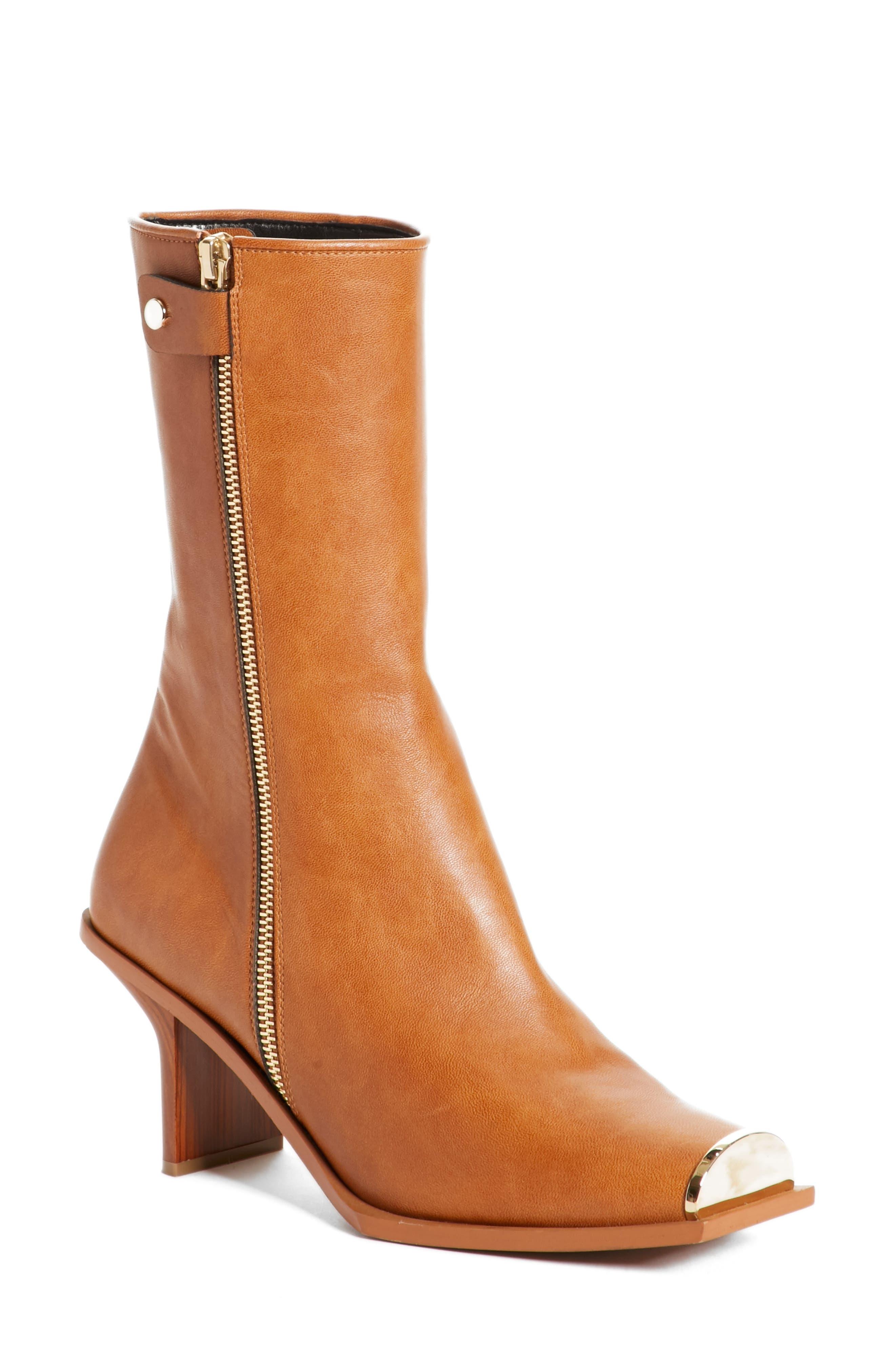 Cap Toe Boot,                         Main,                         color, Dark Carmel