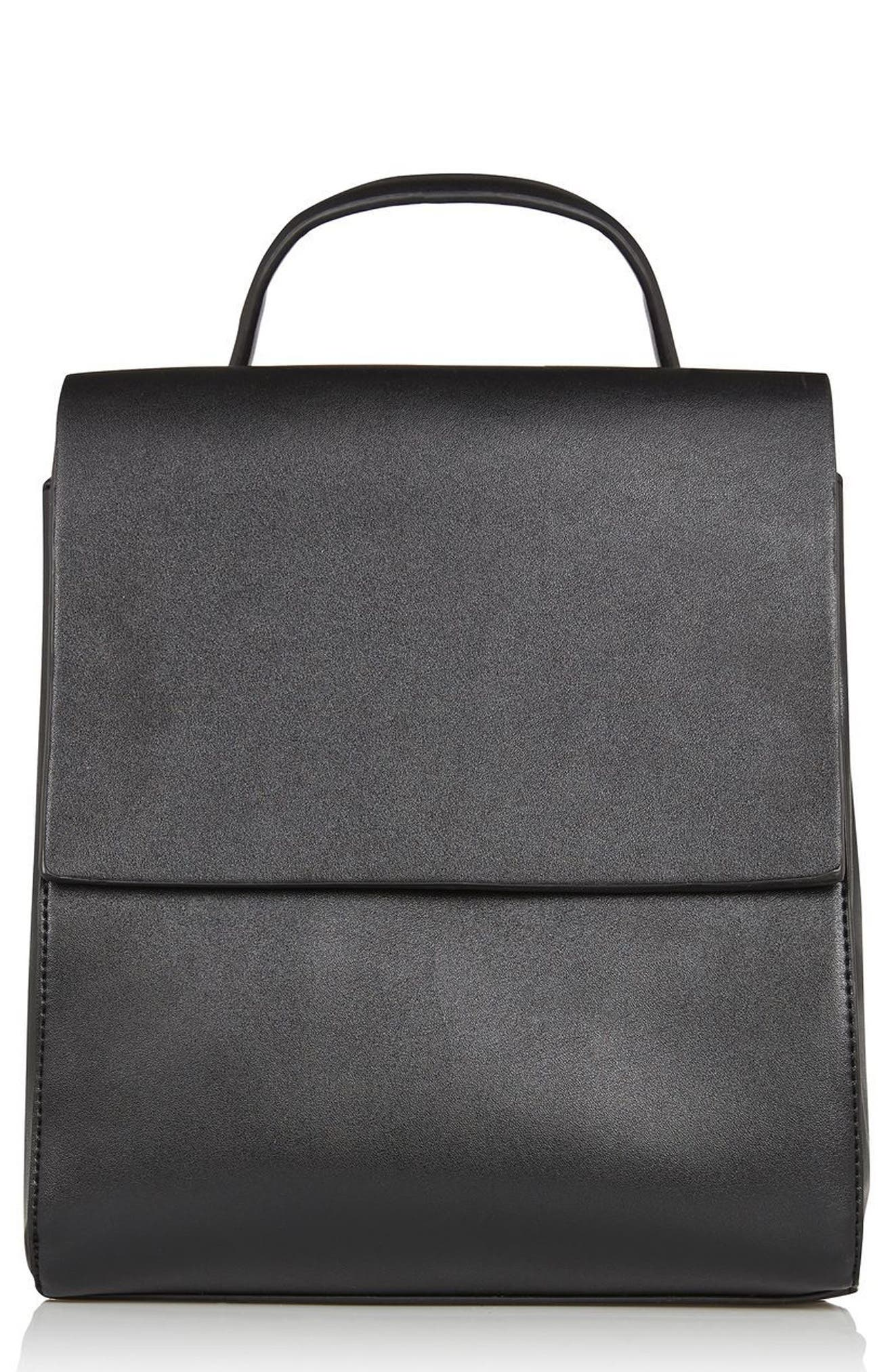 Main Image - Topshop Mini Scandi Faux Leather Backpack