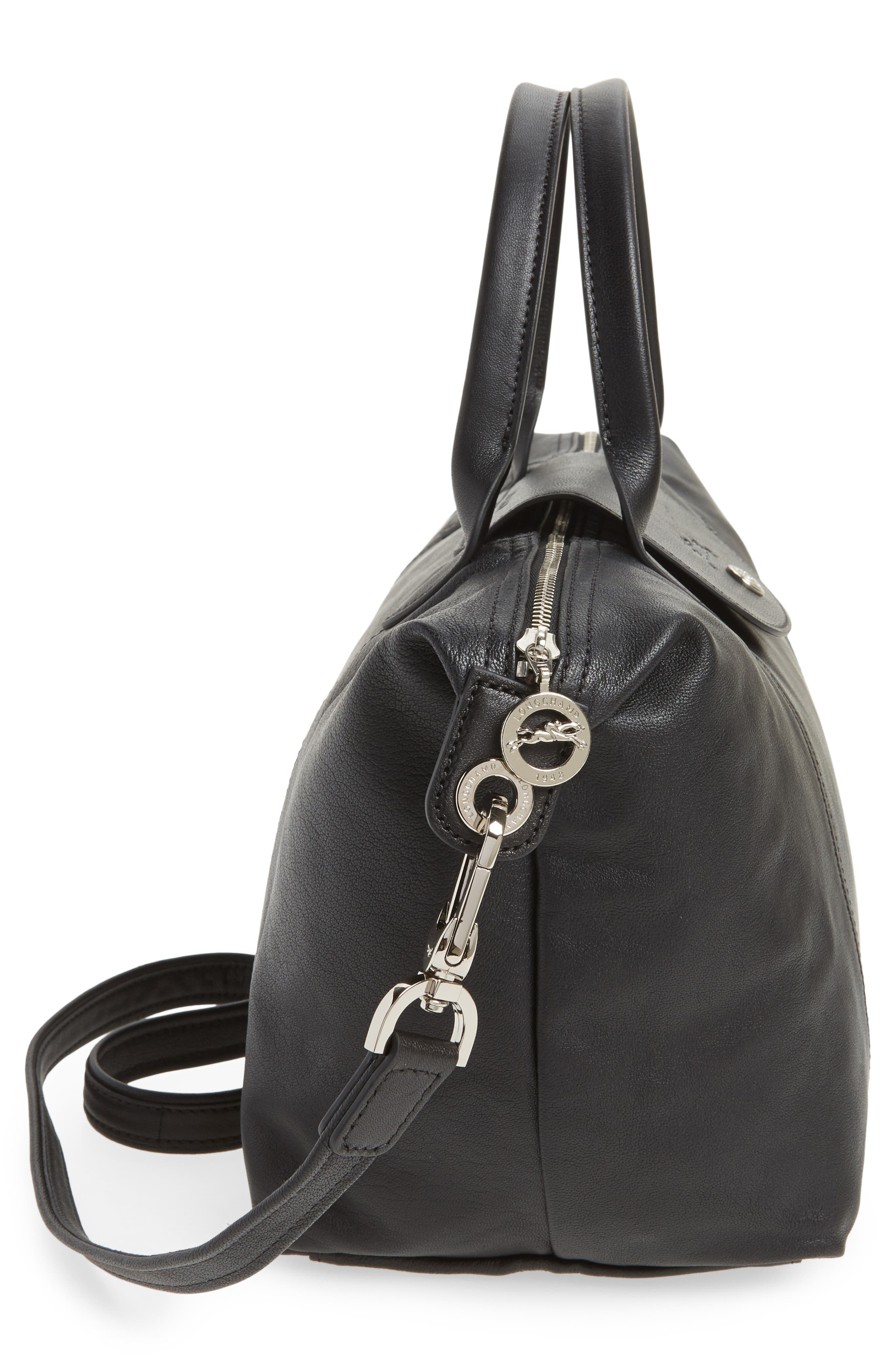 Alternate Image 5  - Longchamp 'Le Pliage Cuir' Leather Handbag