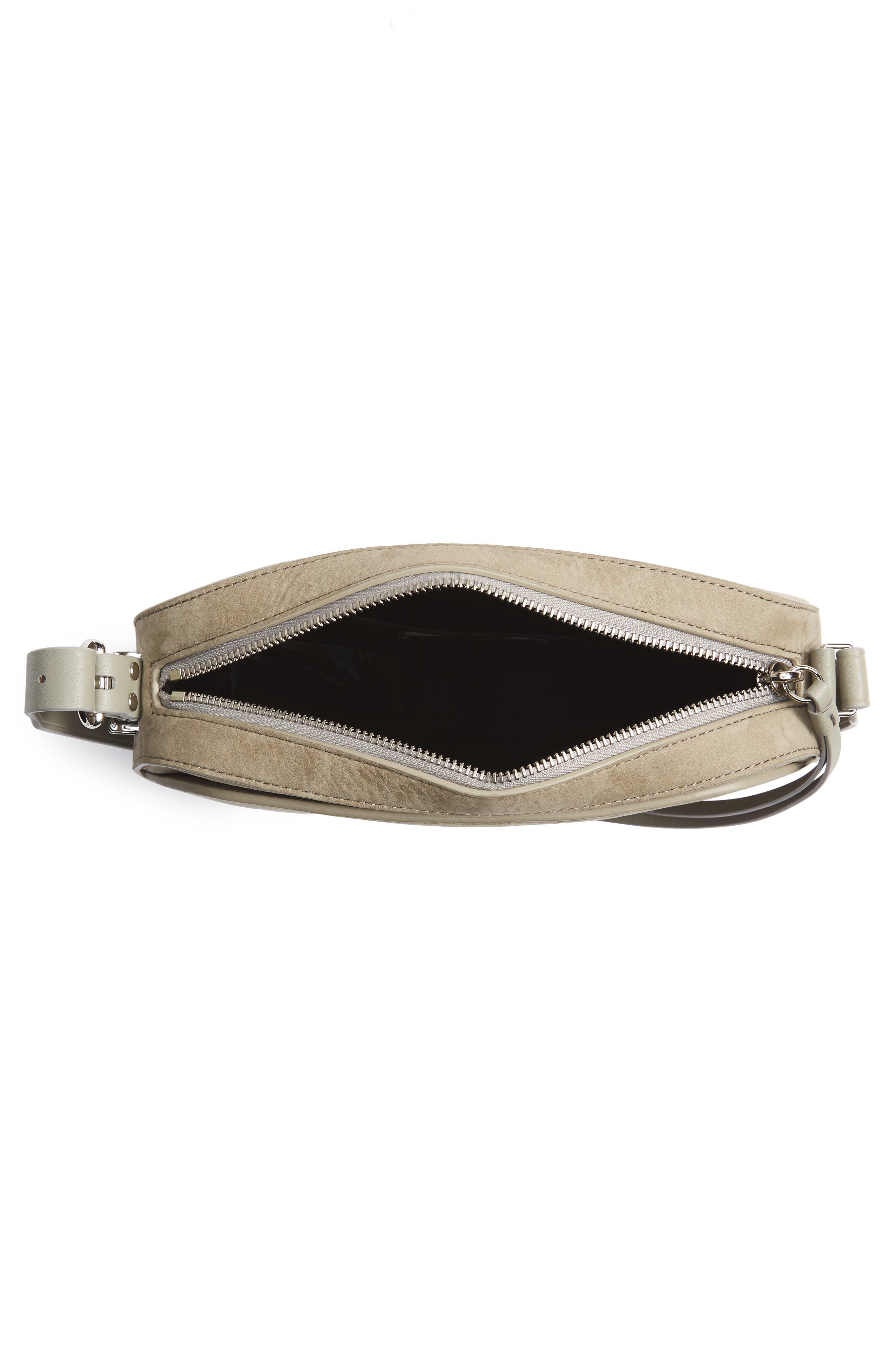 Cooper Nubuck Leather Shoulder Bag,                             Alternate thumbnail 4, color,                             Light Cement Grey