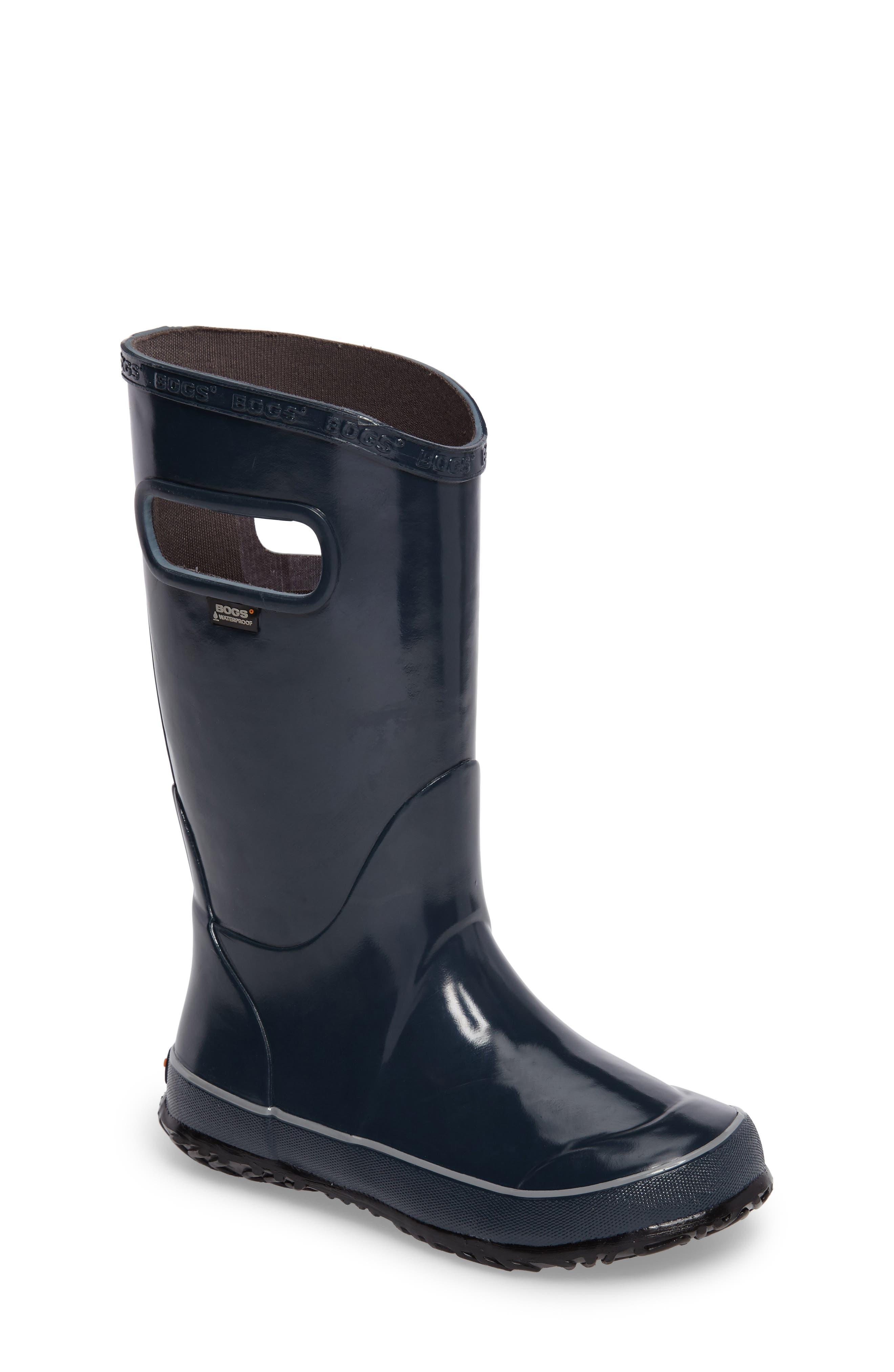 Bogs Solid Waterproof Rubber Rain Boot (Toddler, Little Kid & Big Kid)