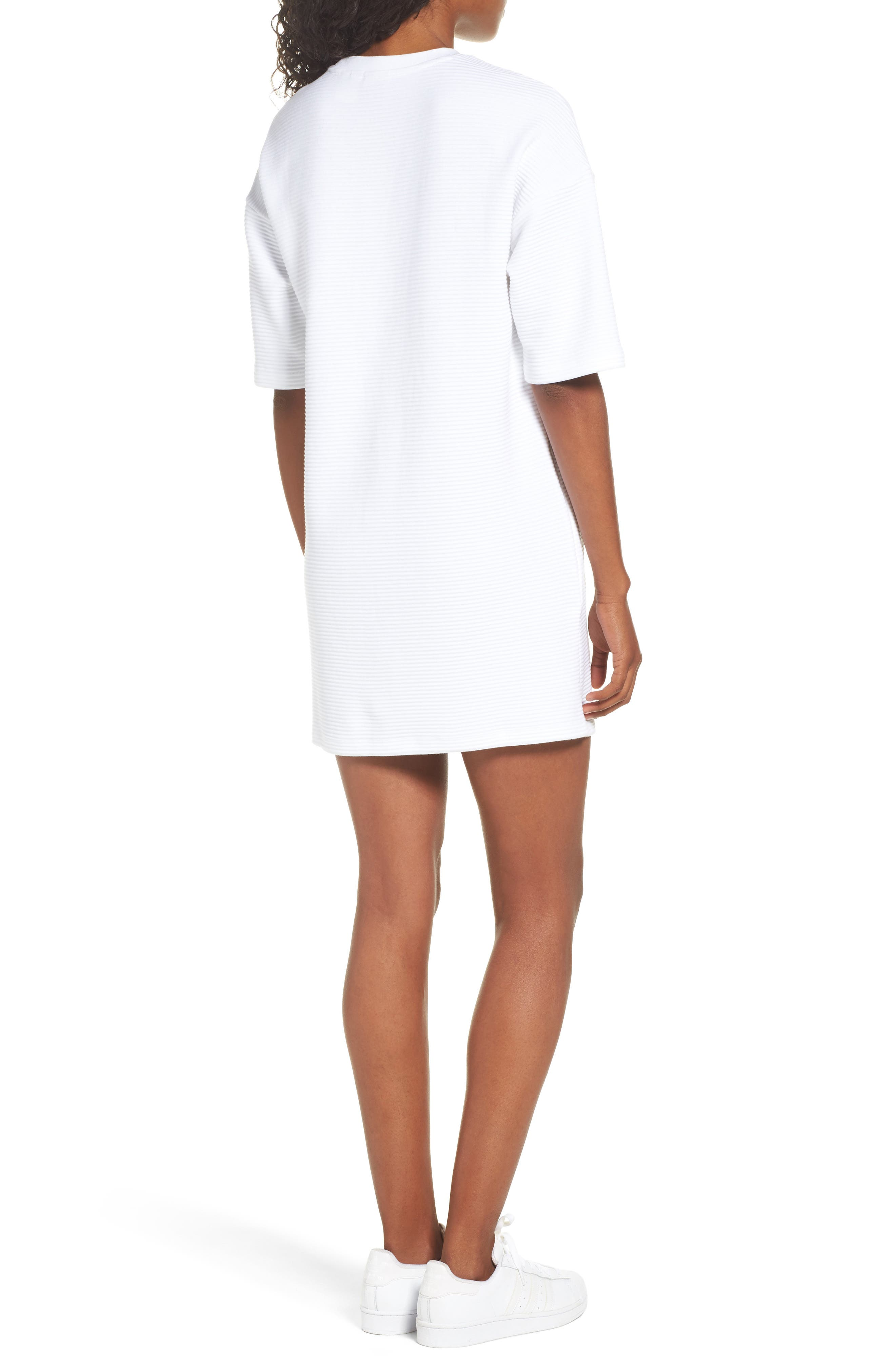 Originals EQT T-Shirt Dress,                             Alternate thumbnail 2, color,                             White