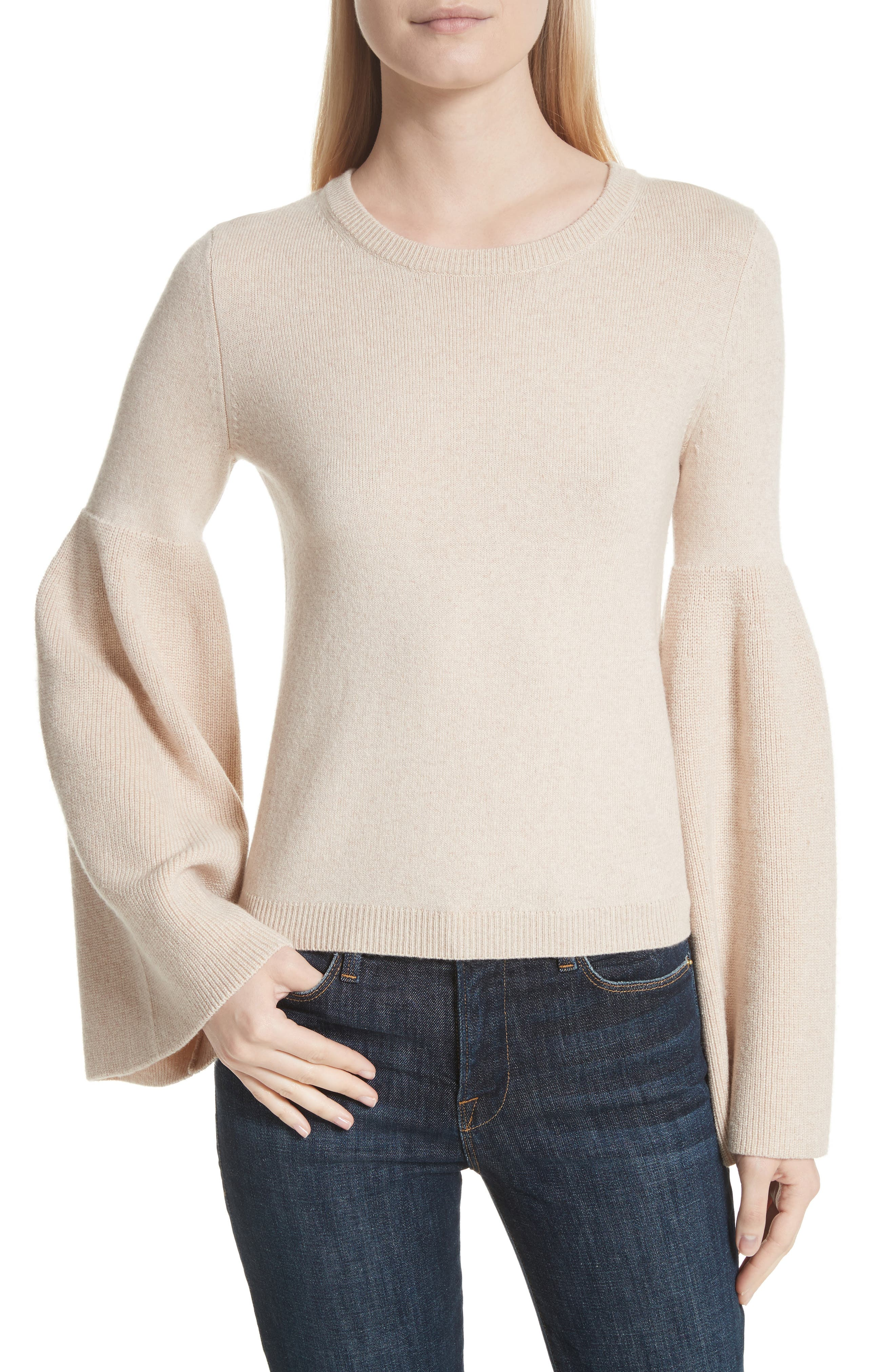 Parson Bell Sleeve Sweater,                         Main,                         color, Nude