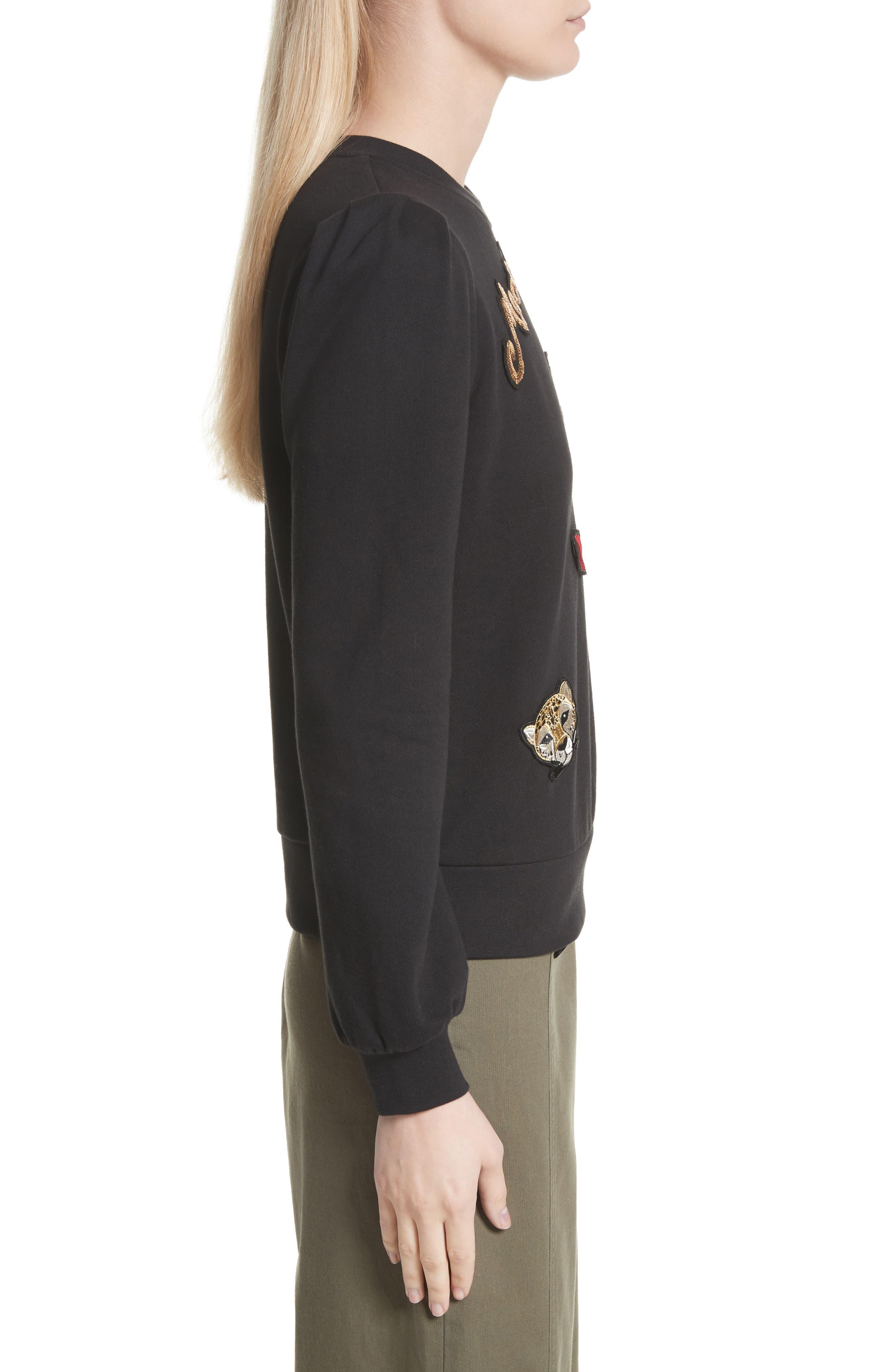 Alternate Image 3  - kate spade new york patch sweatshirt