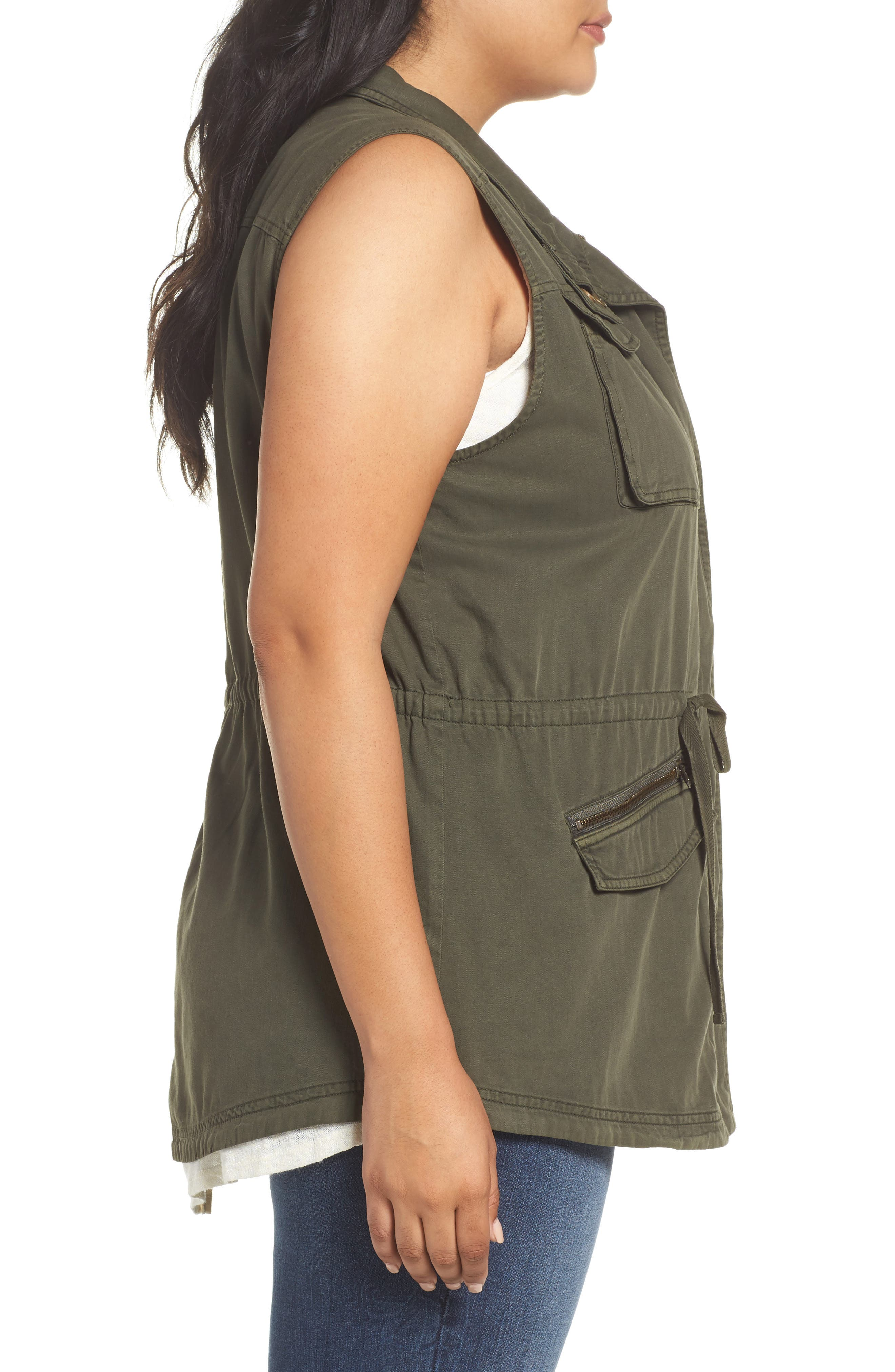Utility Vest,                             Alternate thumbnail 3, color,                             Olive