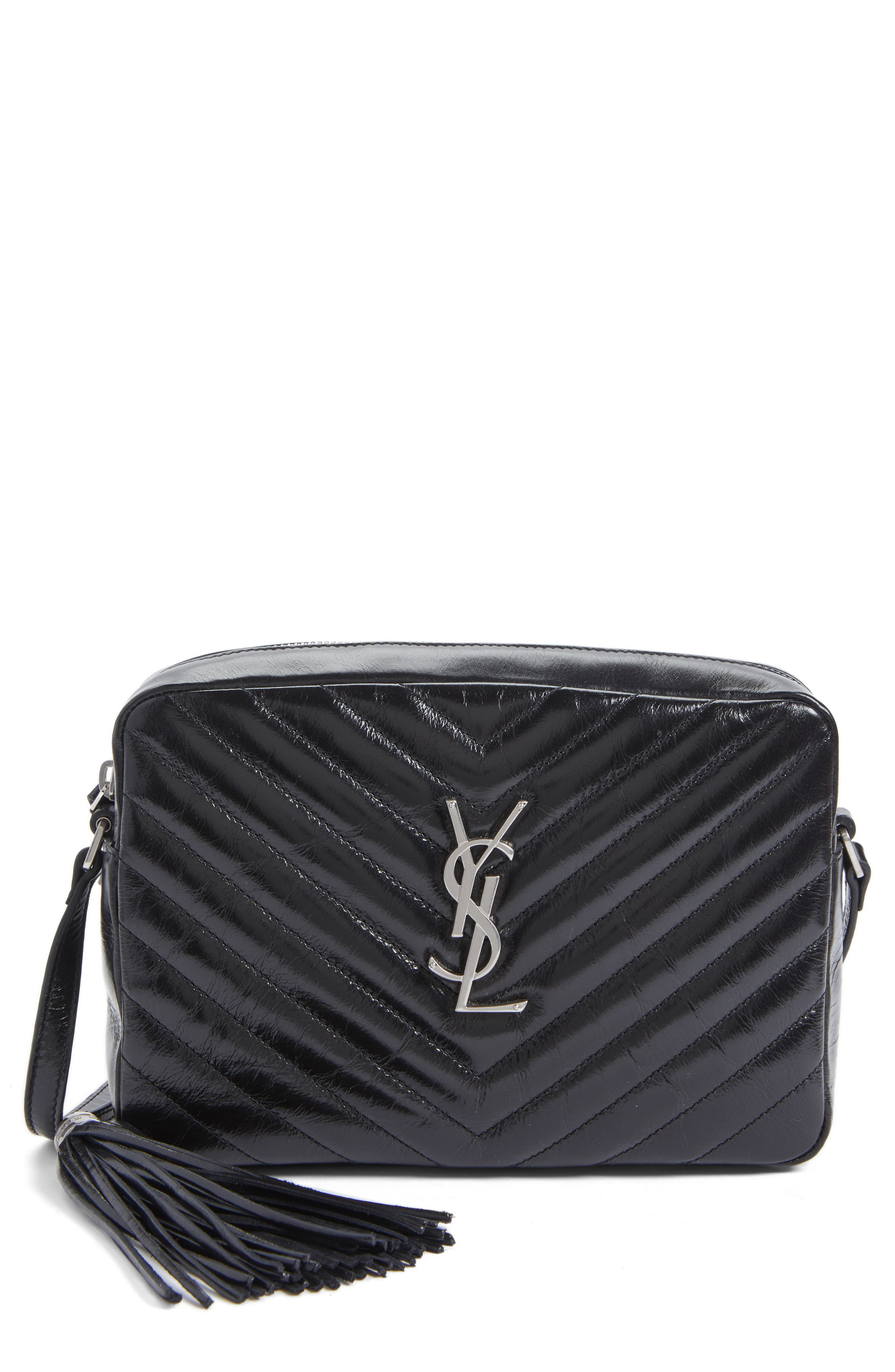 SAINT LAURENT Medium Lou Matelassé Calfskin Leather Camera Bag