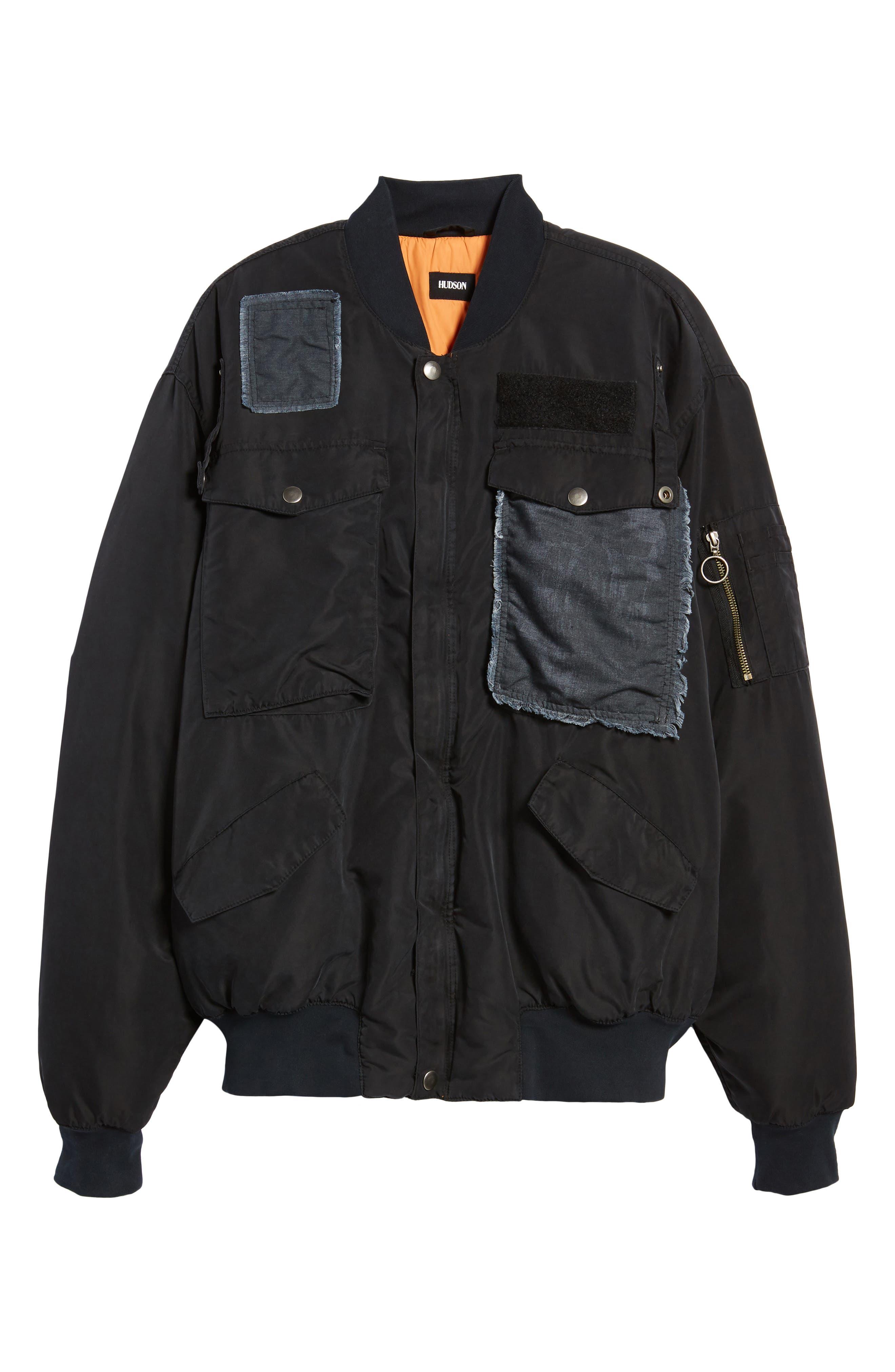 Alternate Image 5  - Hudson Jeans Echo Oversize Bomber Jacket