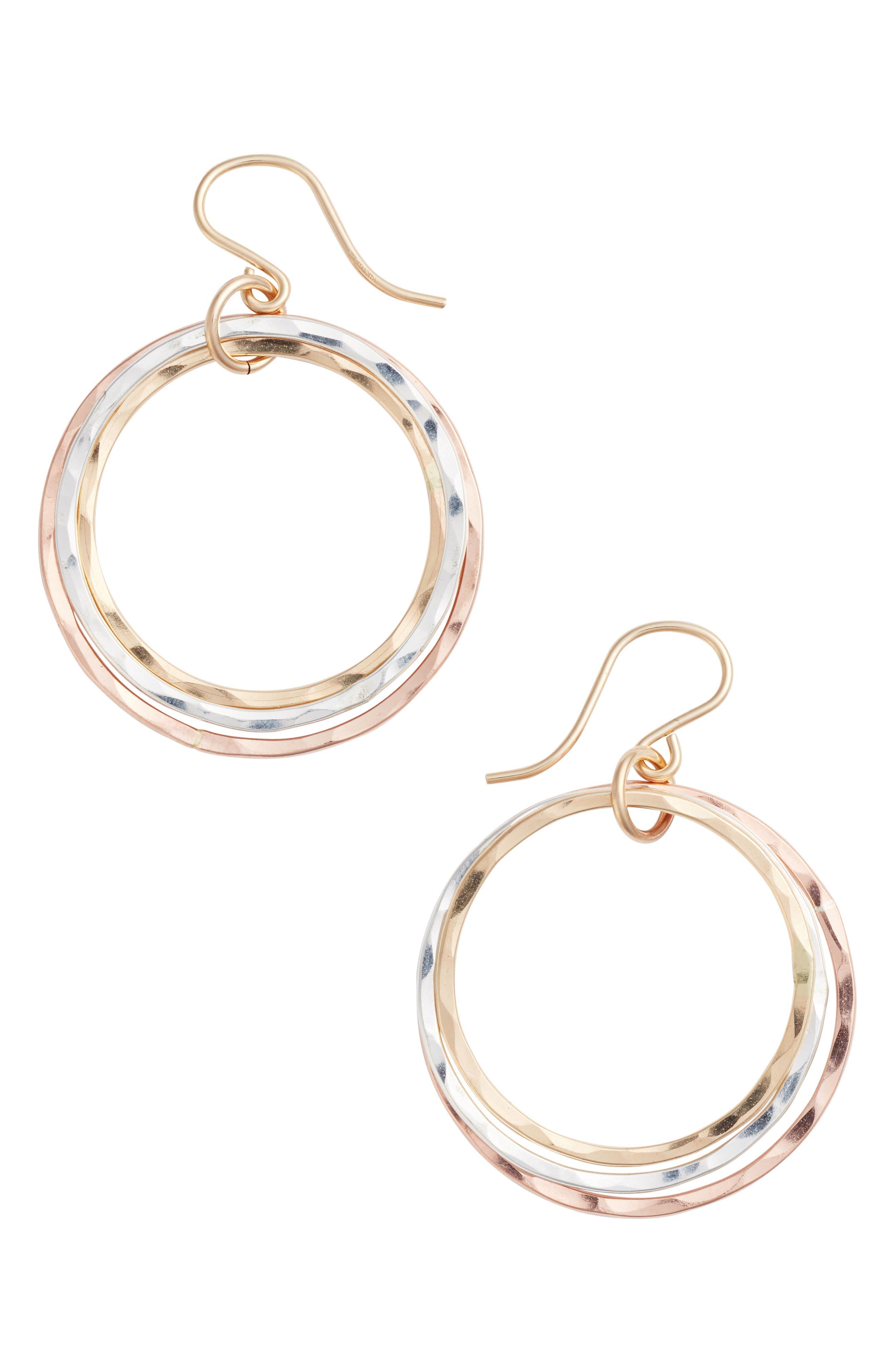 Alternate Image 1 Selected - Nashelle Wellness Small Hoop Earrings