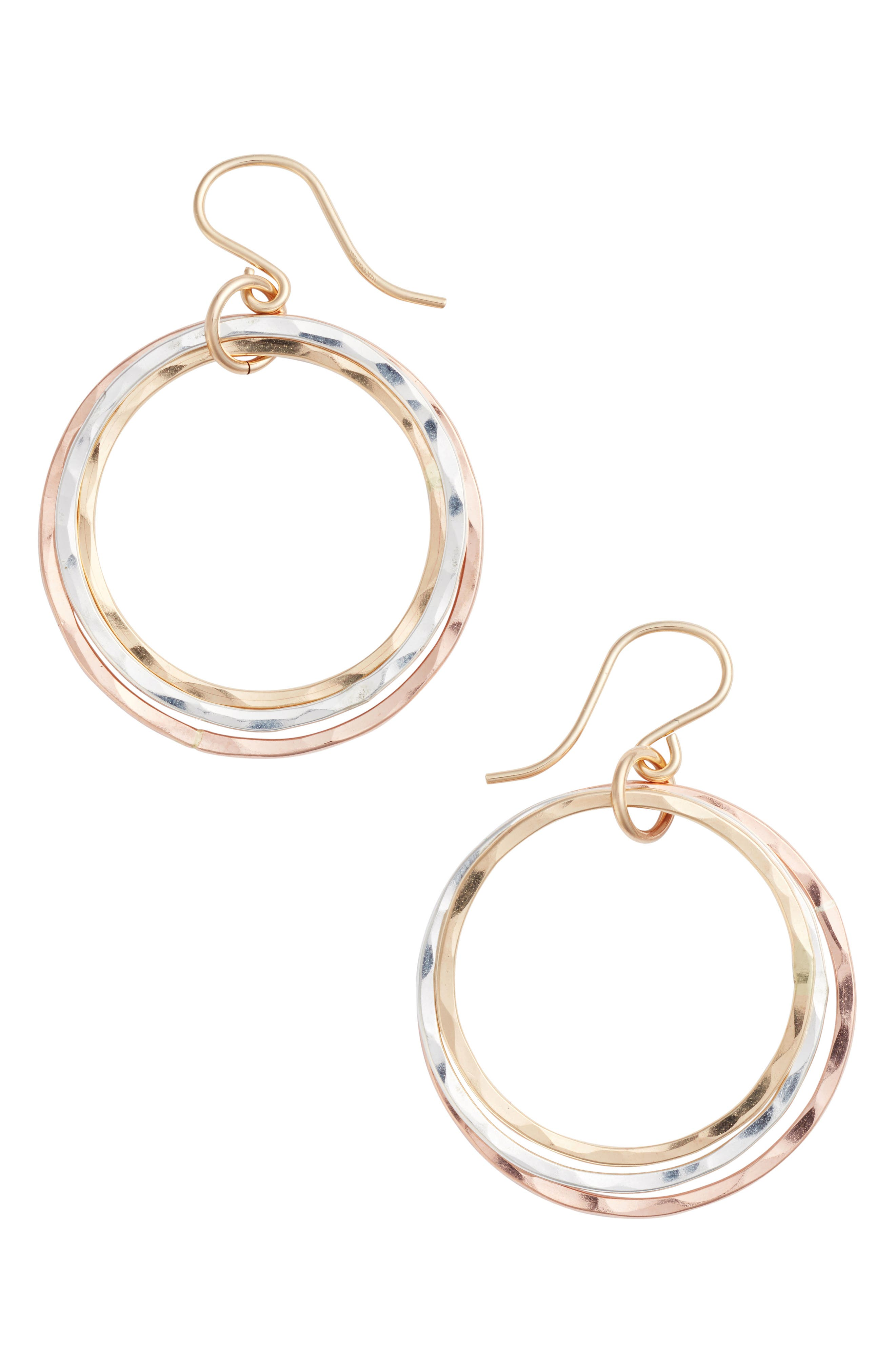 Wellness Small Hoop Earrings,                         Main,                         color, Gold/ Silver