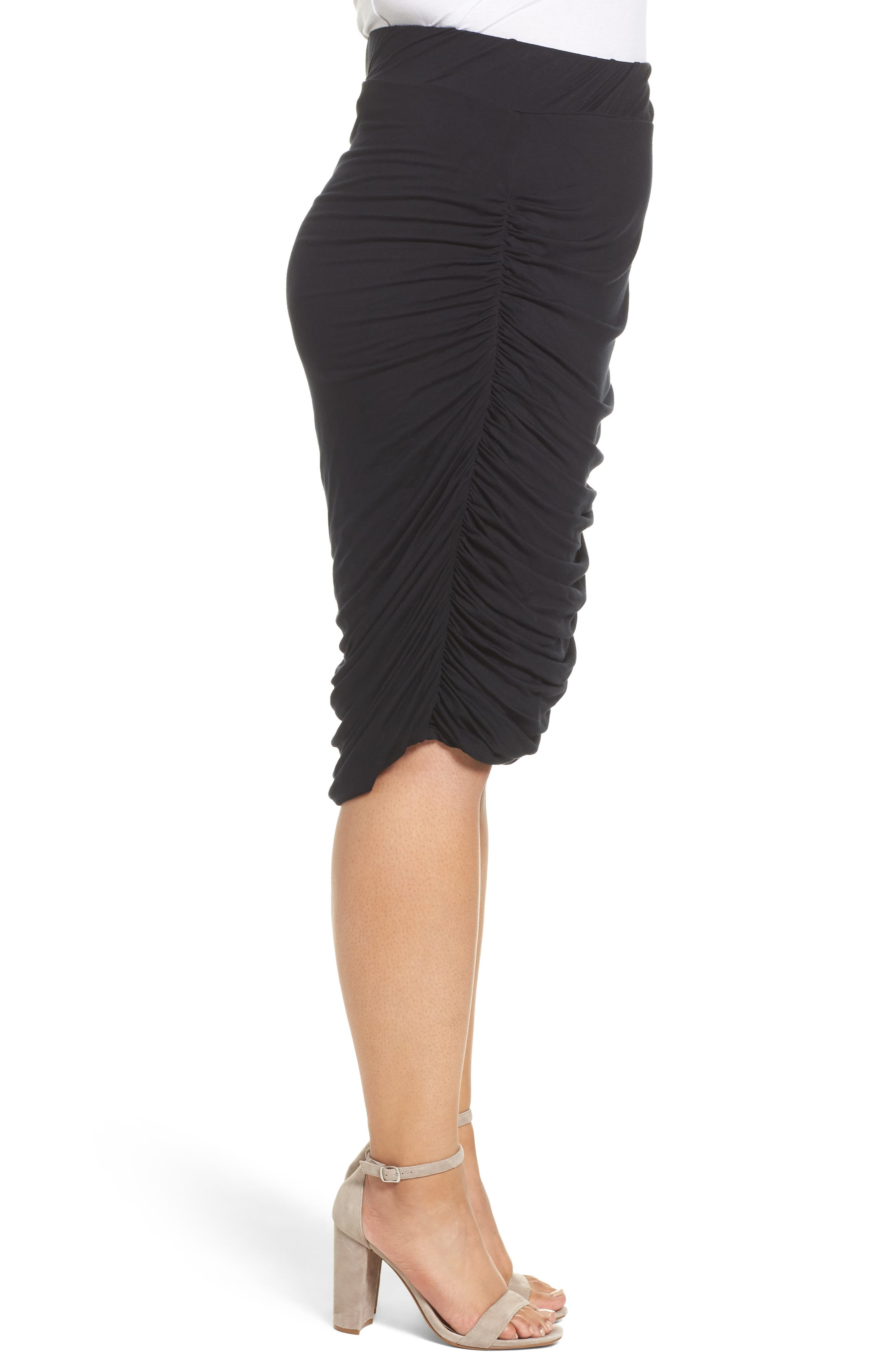 Alternate Image 3  - REBEL WILSON X ANGELS Ruched Jersey Knit Skirt (Plus Size)