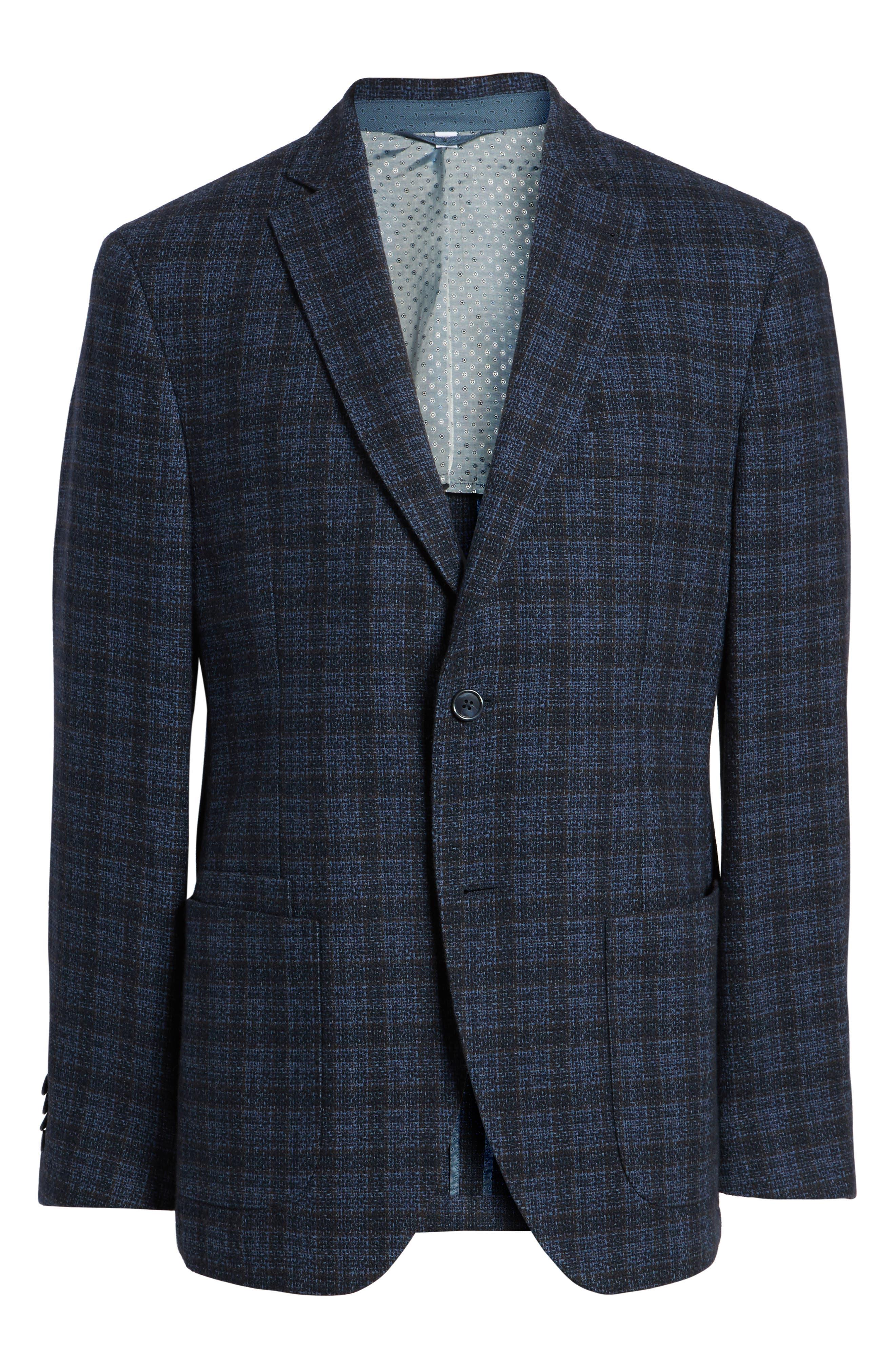 Alternate Image 6  - JKT New York Trim Fit Plaid Cotton Blend Sport Coat