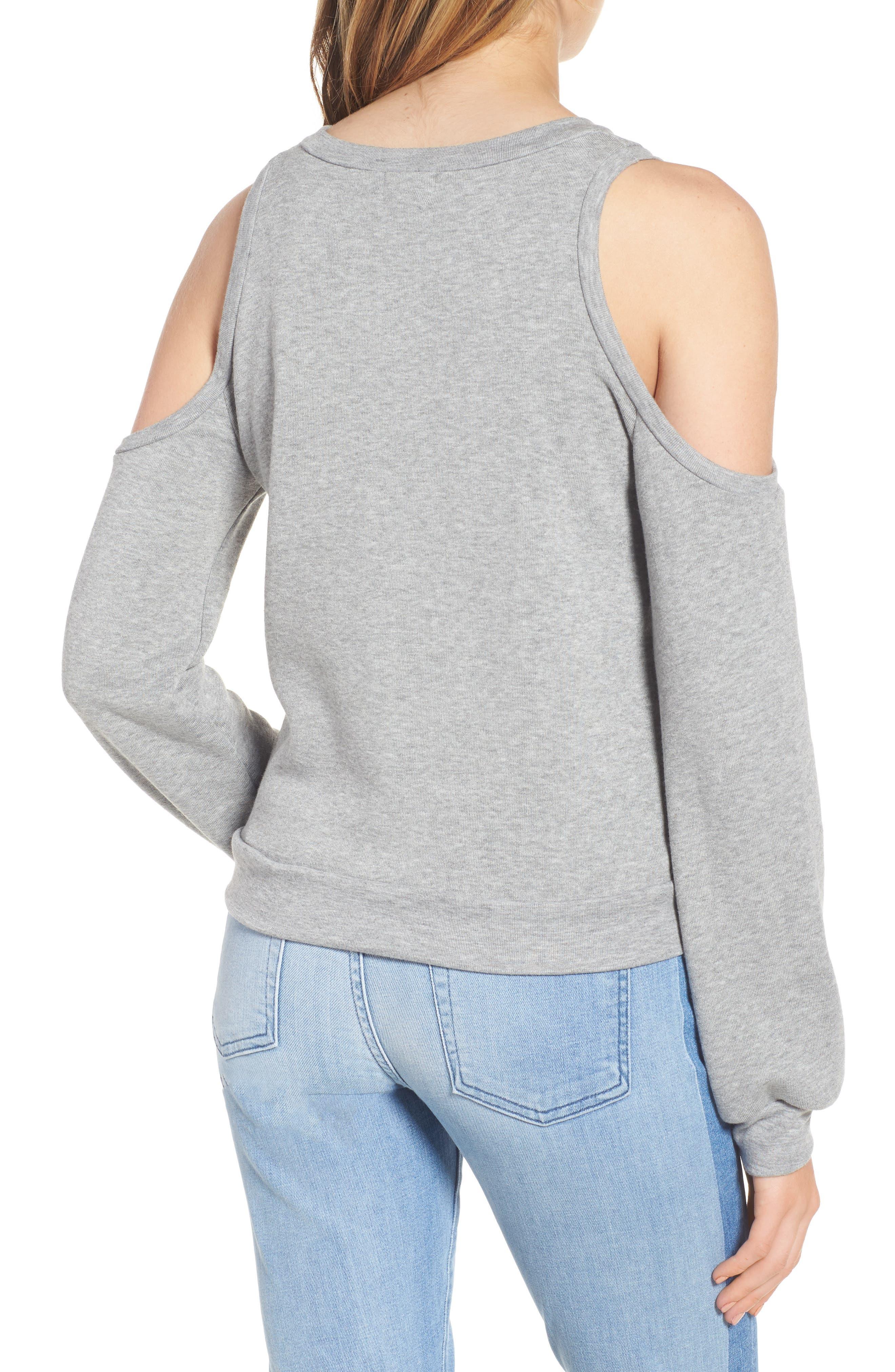 Alternate Image 2  - PST by Project Social T The Blonde Cold Shoulder Sweatshirt