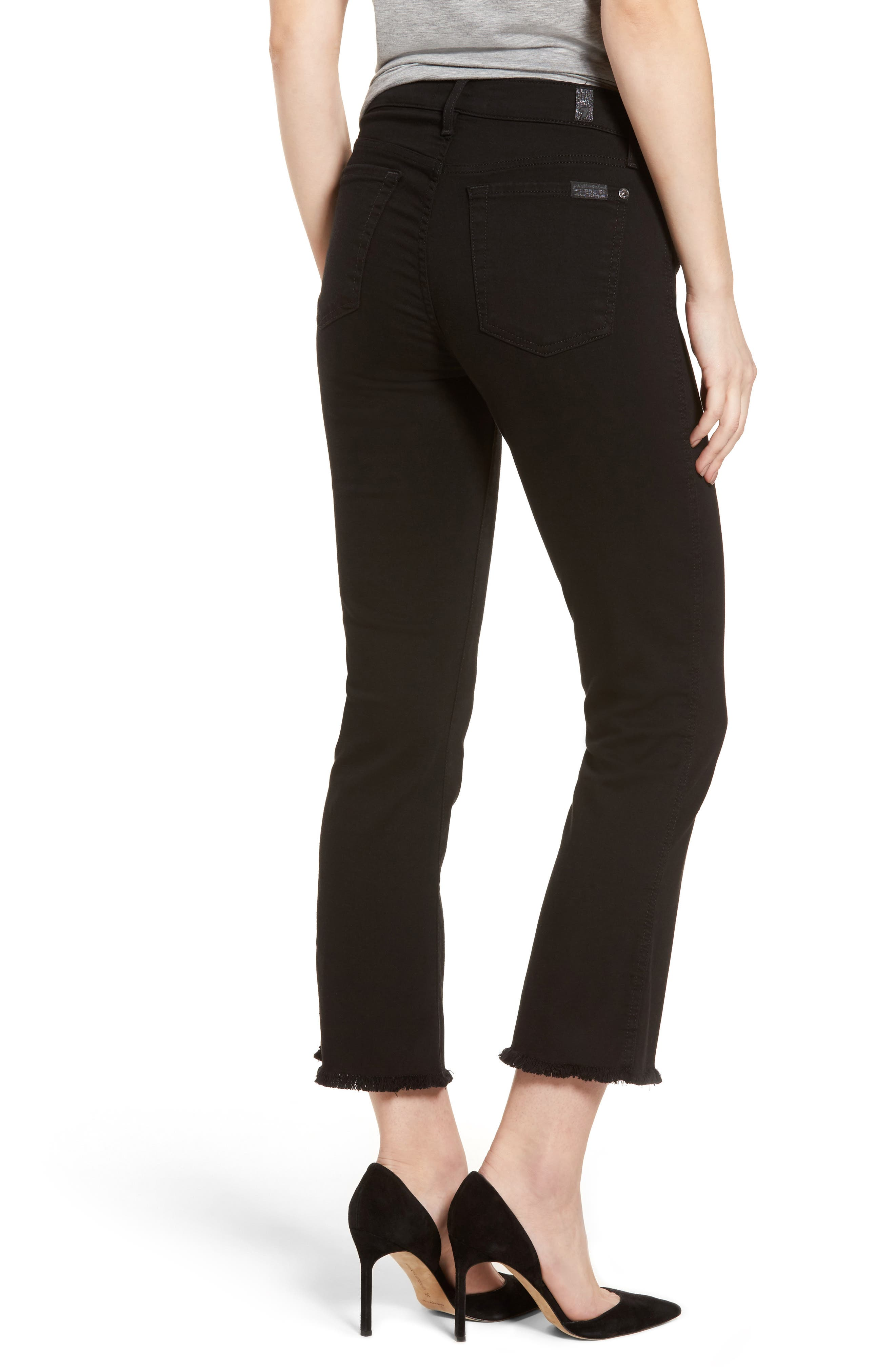 Alternate Image 2  - 7 For All Mankind® b(air) Crop Bootcut Jeans (b(air) Black)