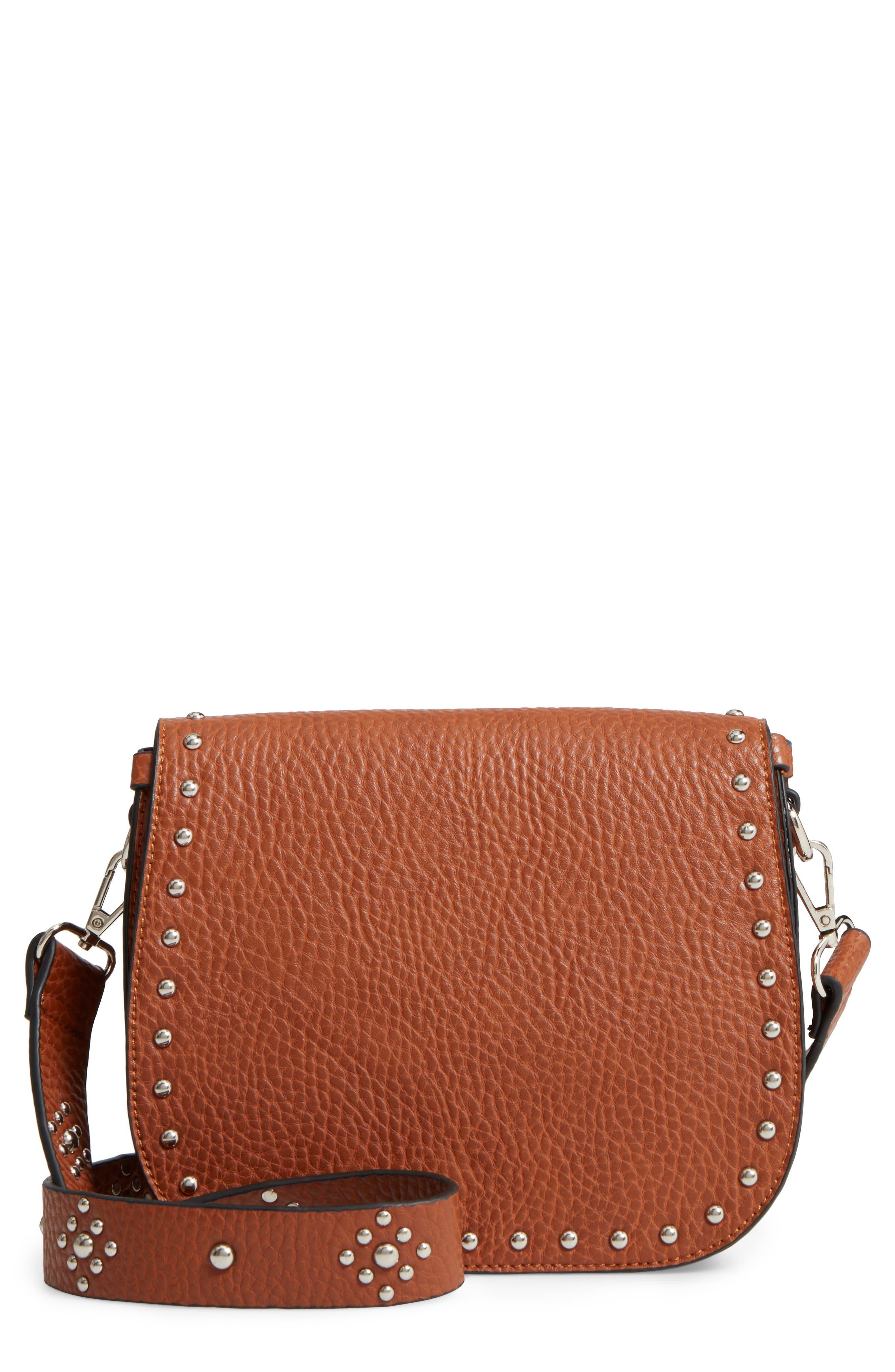 Linea Pelle Studded Faux Leather Satchel