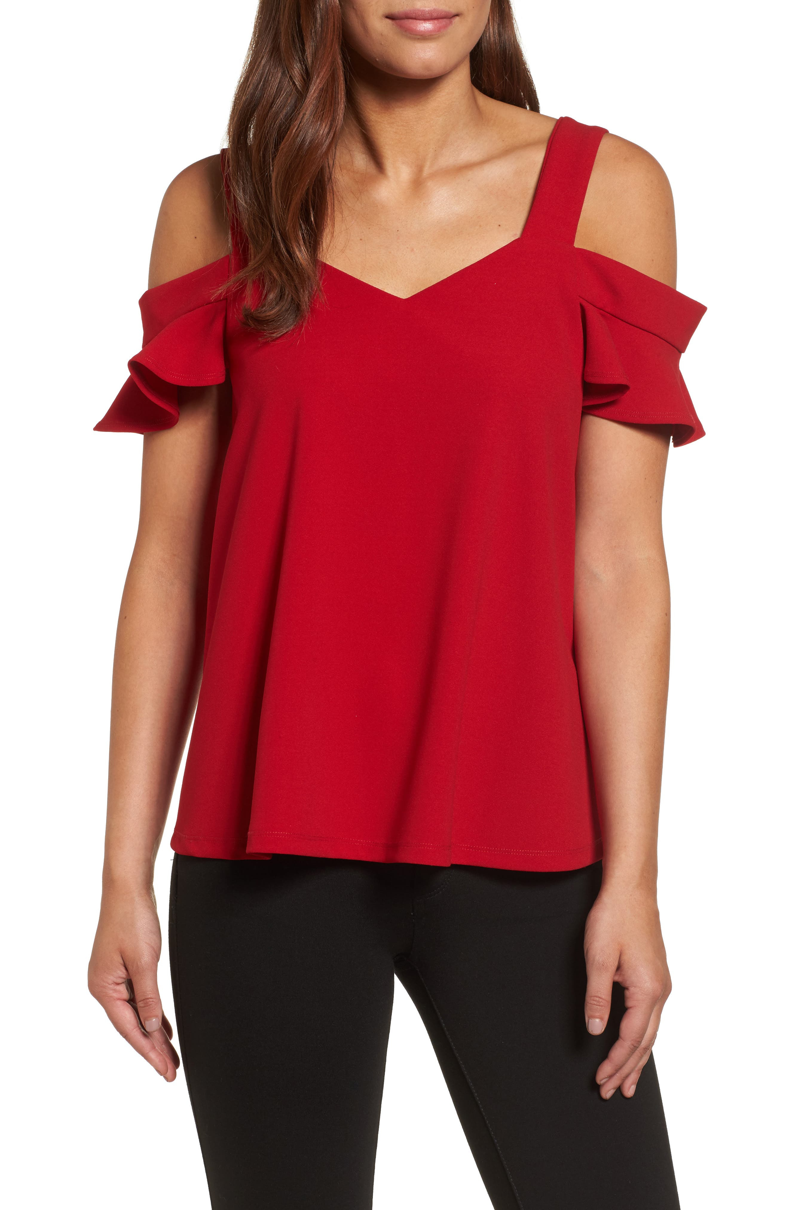 KUT from the Cloth Erika Cold Shoulder Top