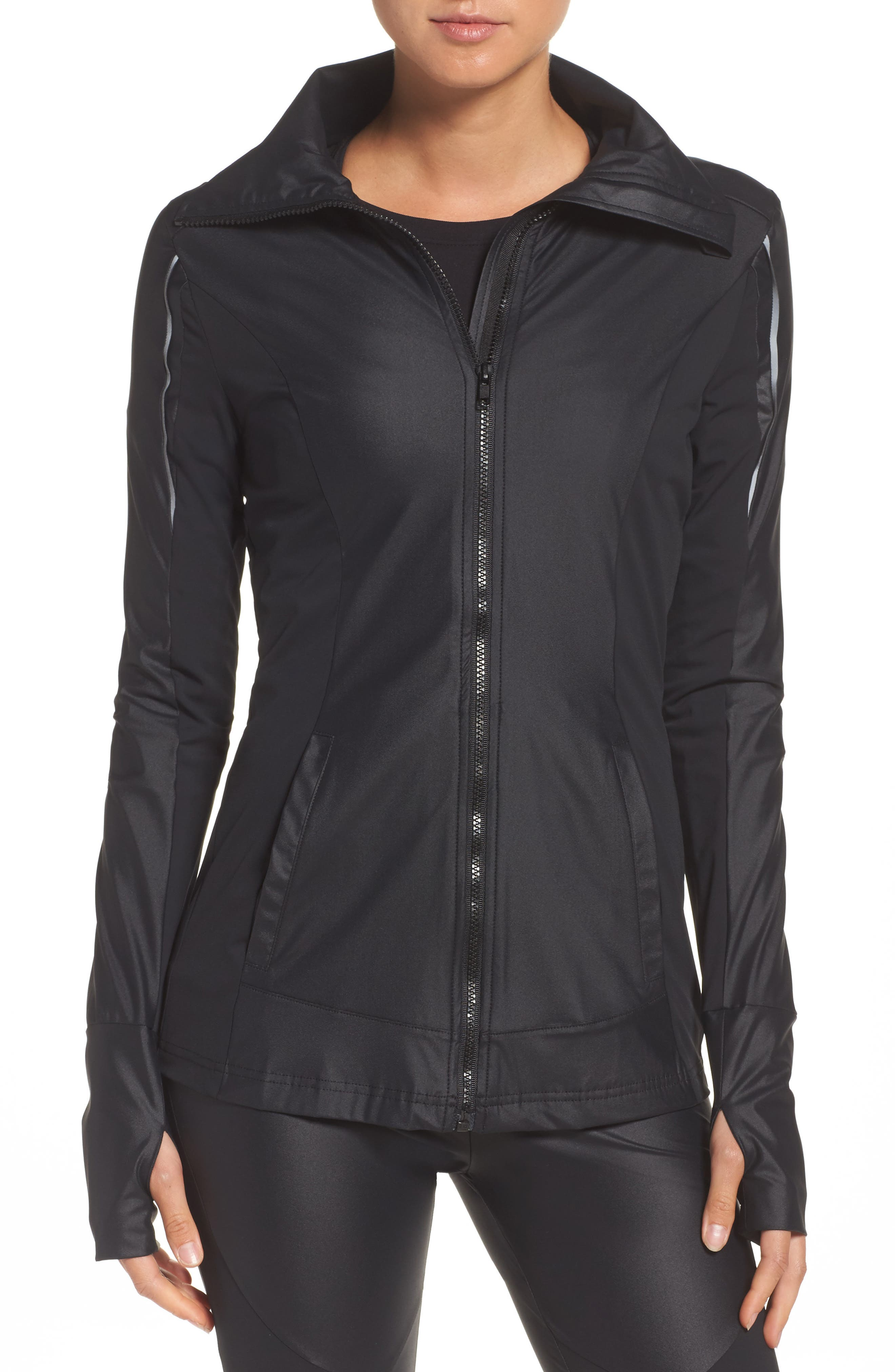 BoomBoom Athletica Lightweight Jacket,                             Main thumbnail 1, color,                             Black