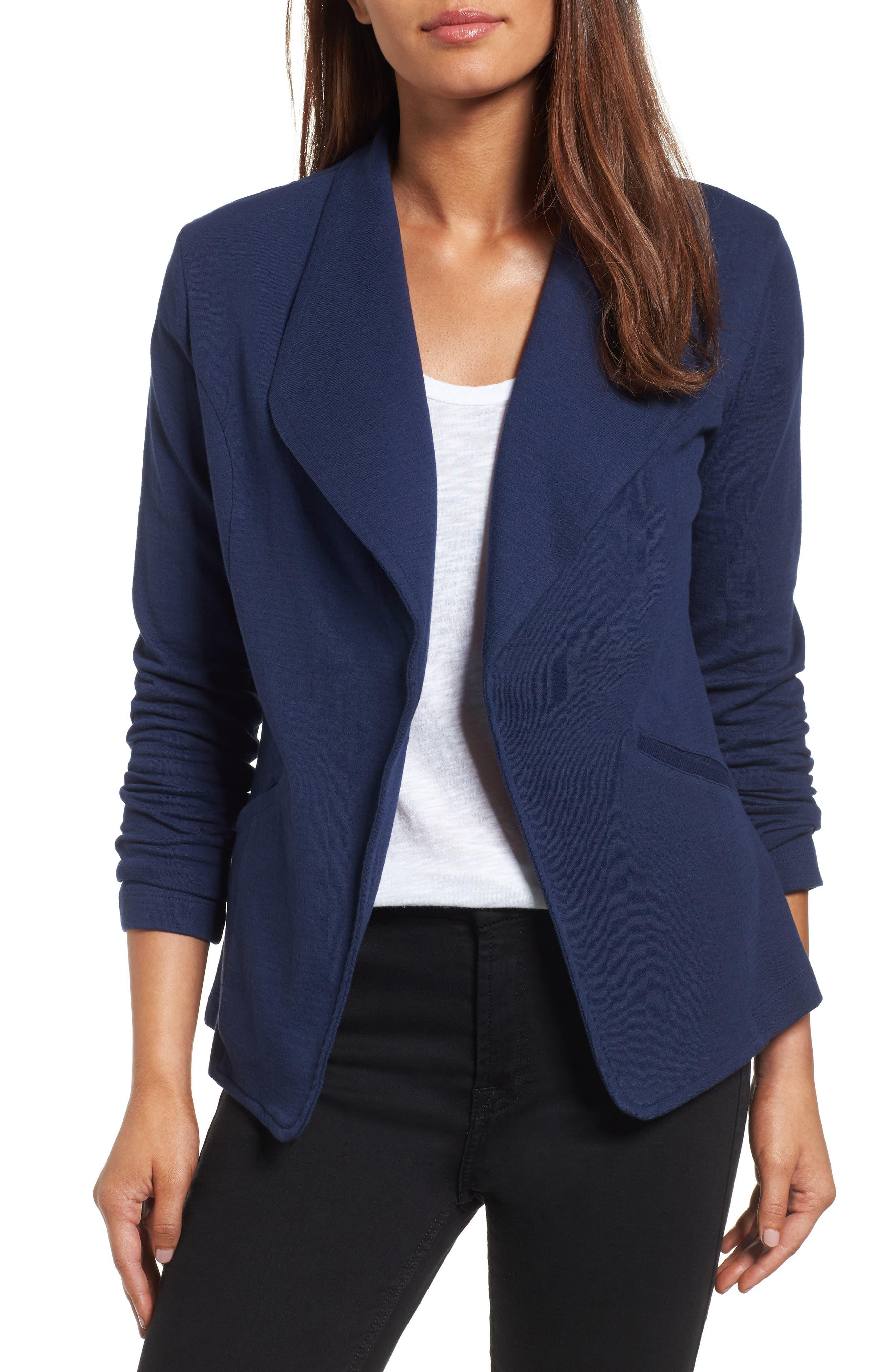 Alternate Image 1 Selected - Caslon® Knit Blazer (Regular & Petite)