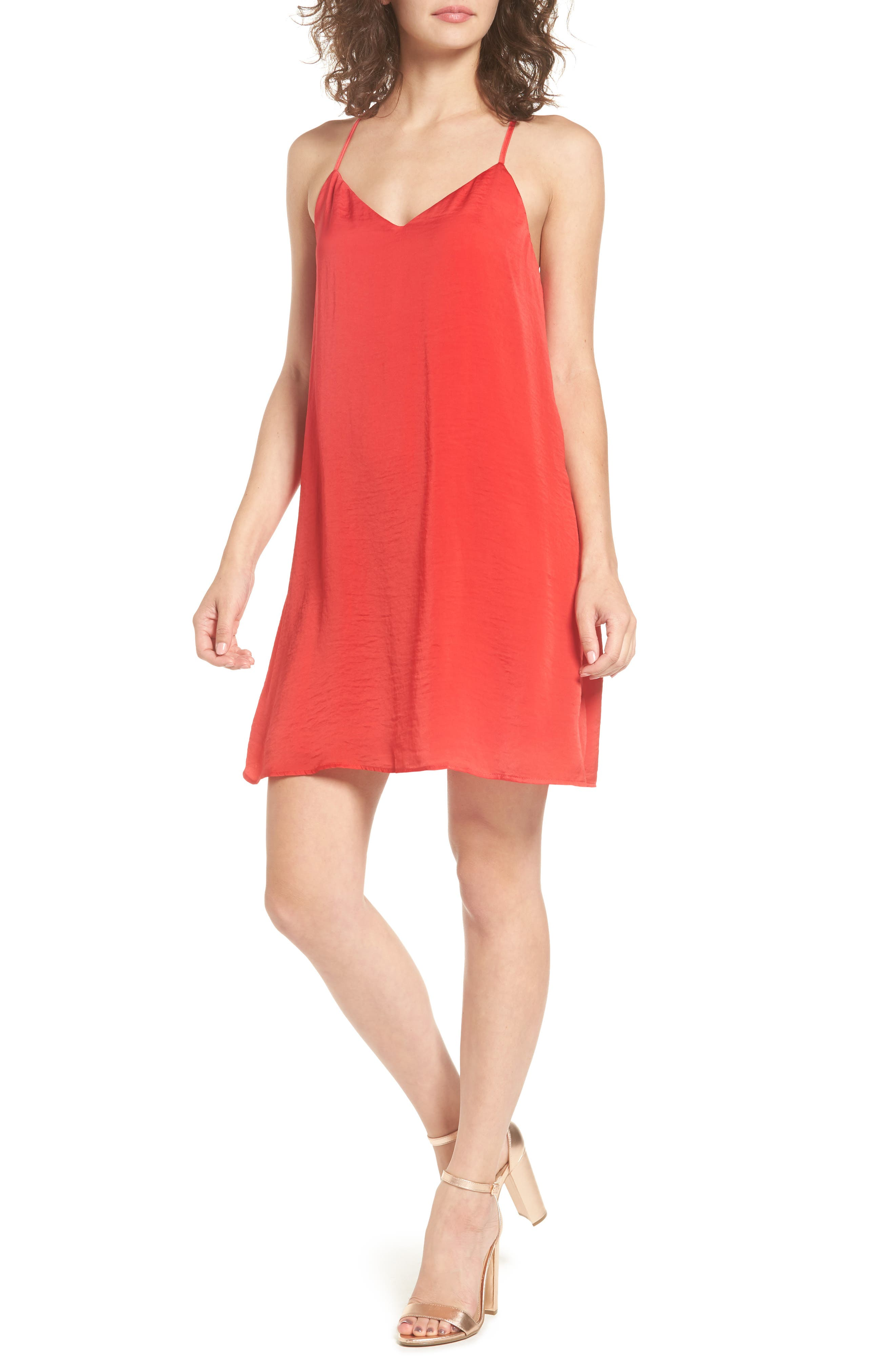As You Wish Cami Dress,                         Main,                         color, Red