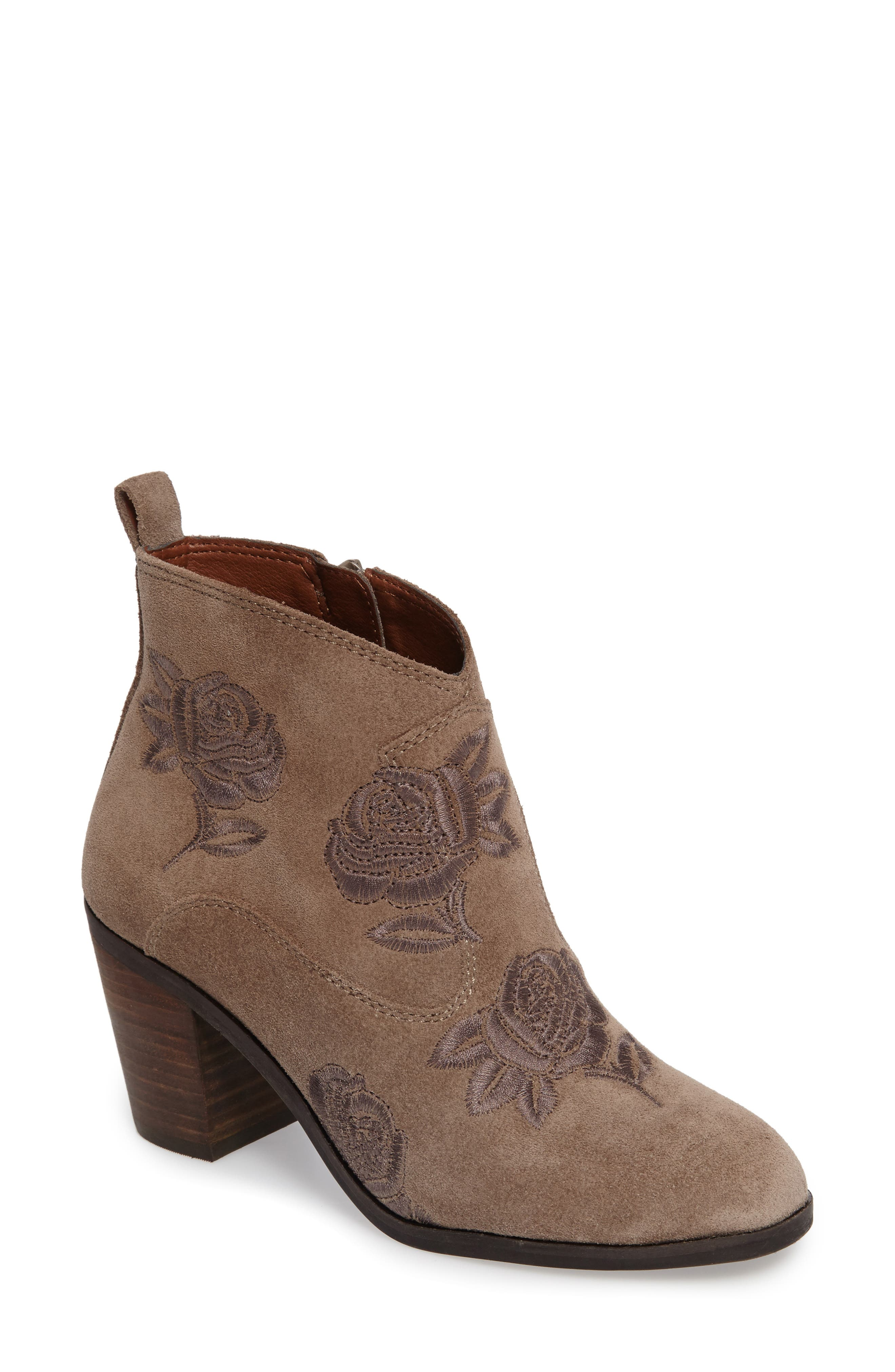 Alternate Image 1 Selected - Lucky Brand Pexton Embroidered Bootie (Women)
