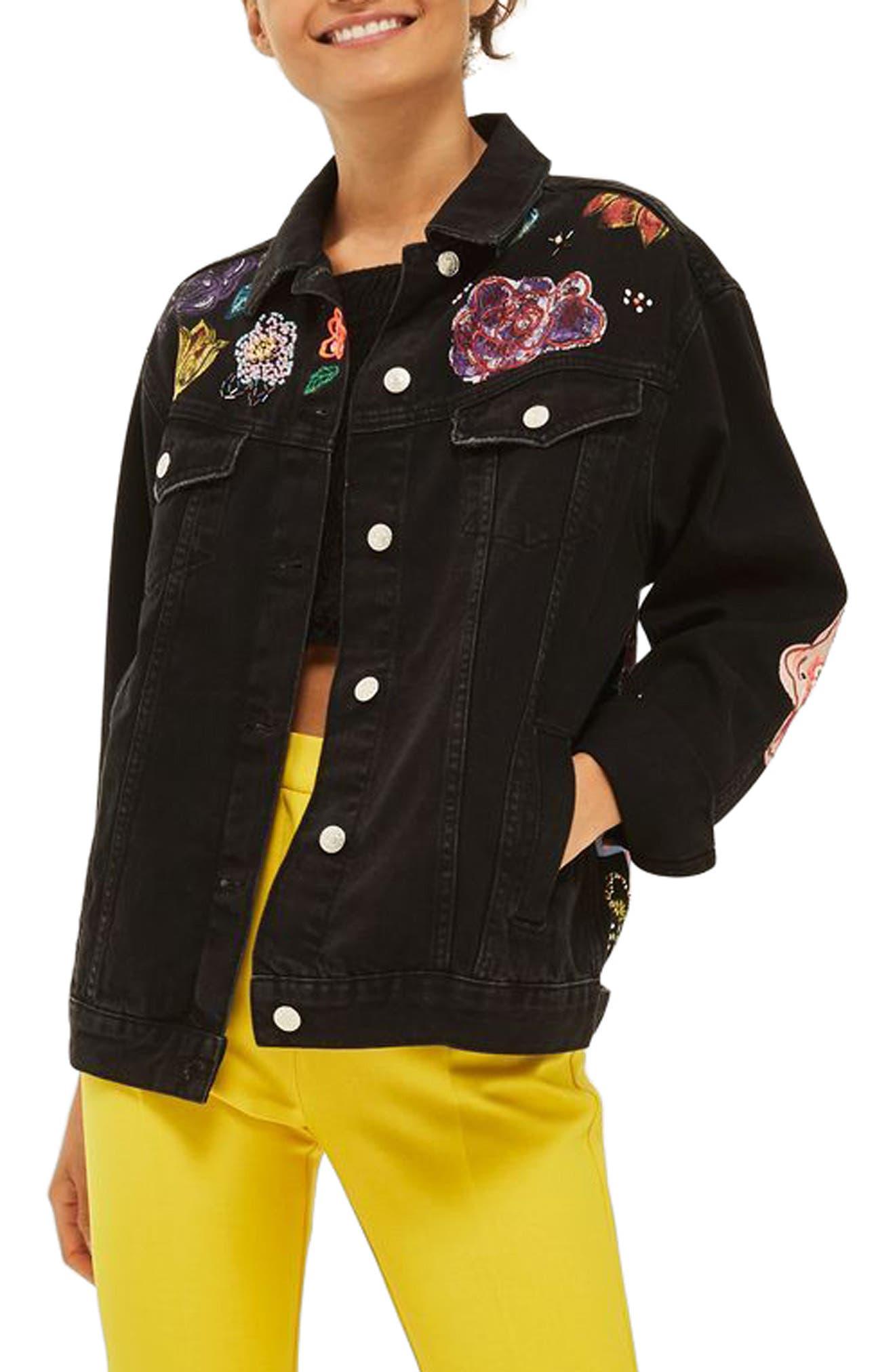 TOPSHOP Paradise Denim Jacket