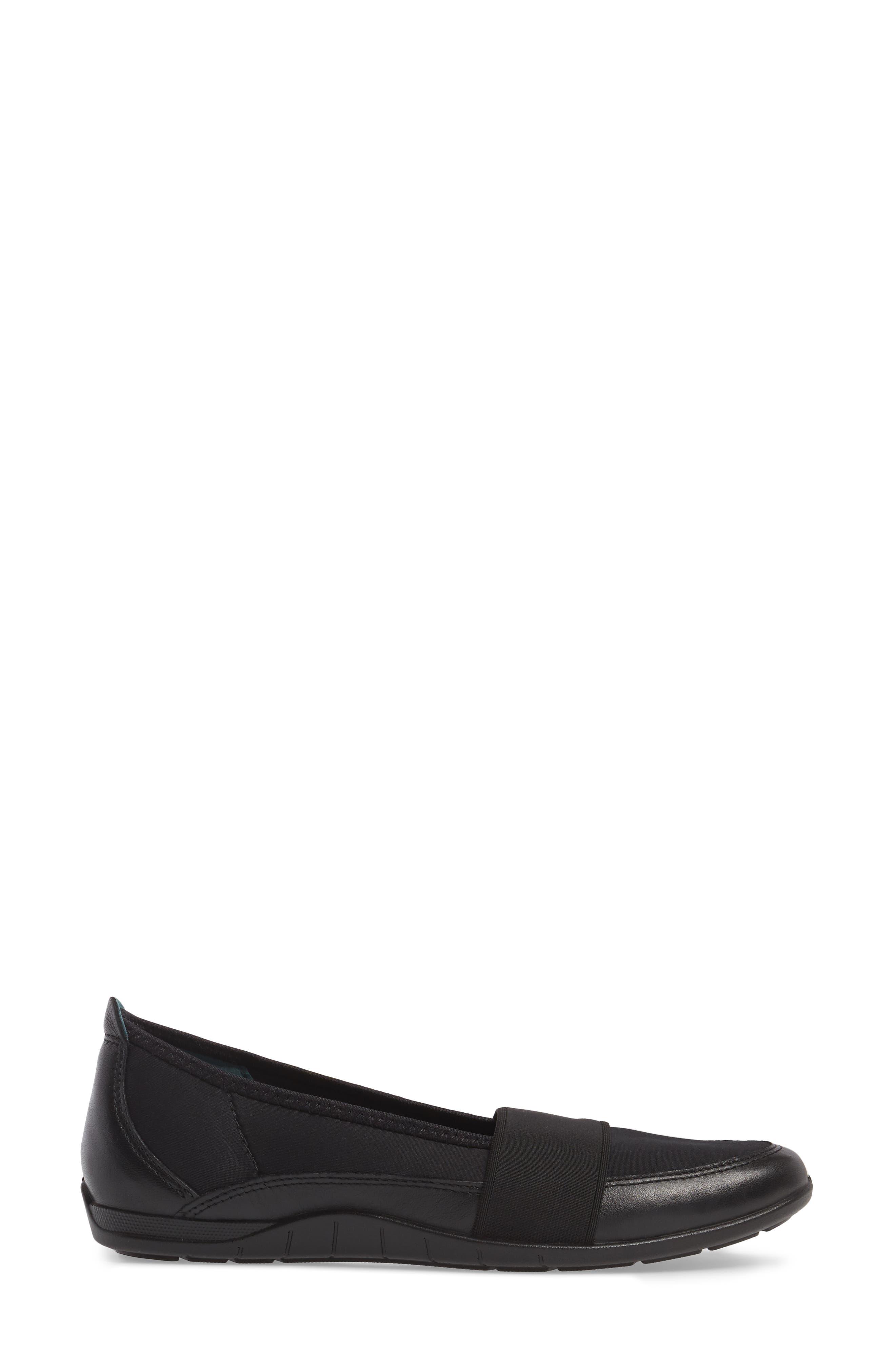 'Bluma' Slip-On Sneaker,                             Alternate thumbnail 3, color,                             Black Leather