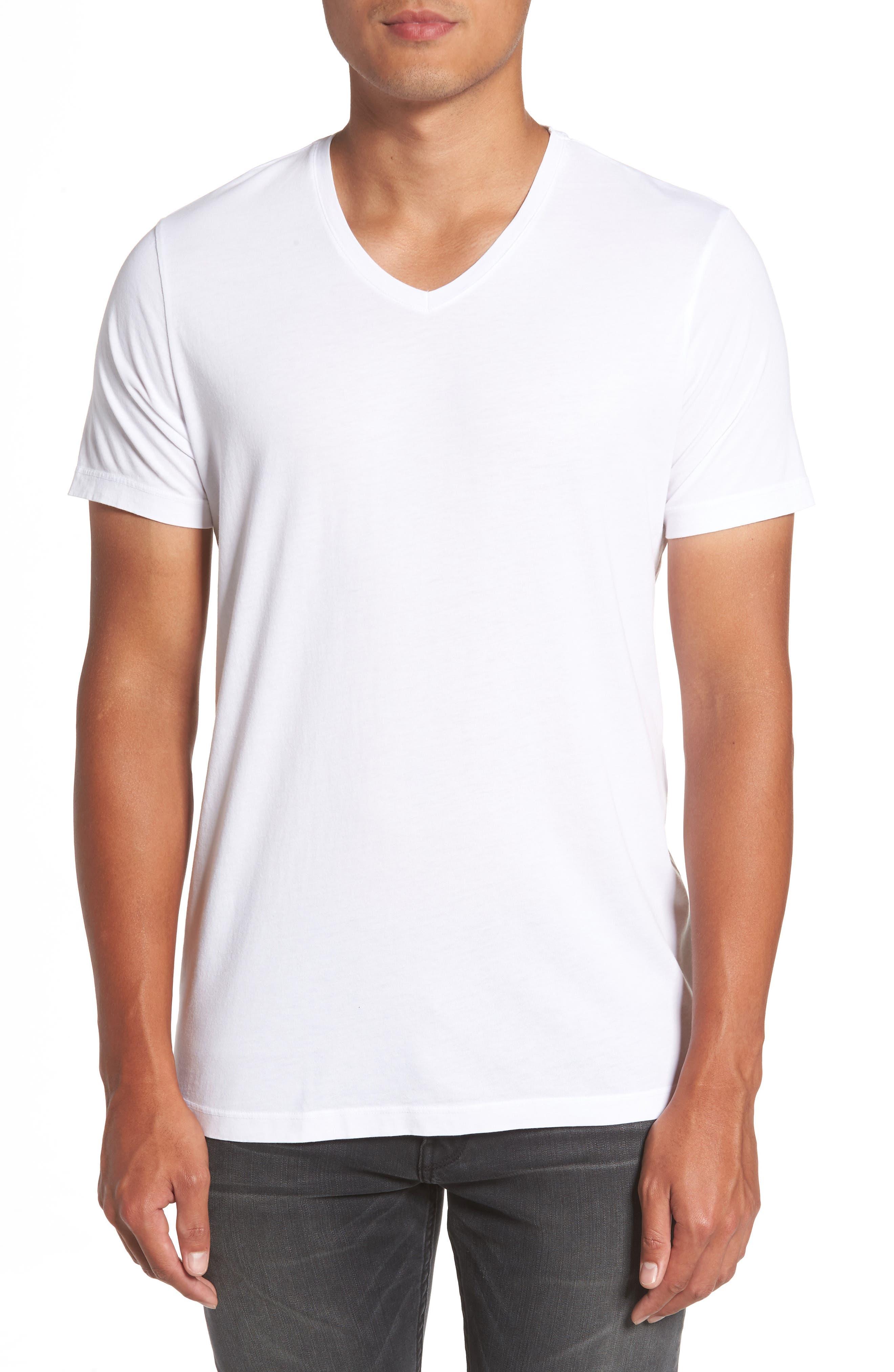Grayson V-Neck T-Shirt,                             Main thumbnail 1, color,                             White