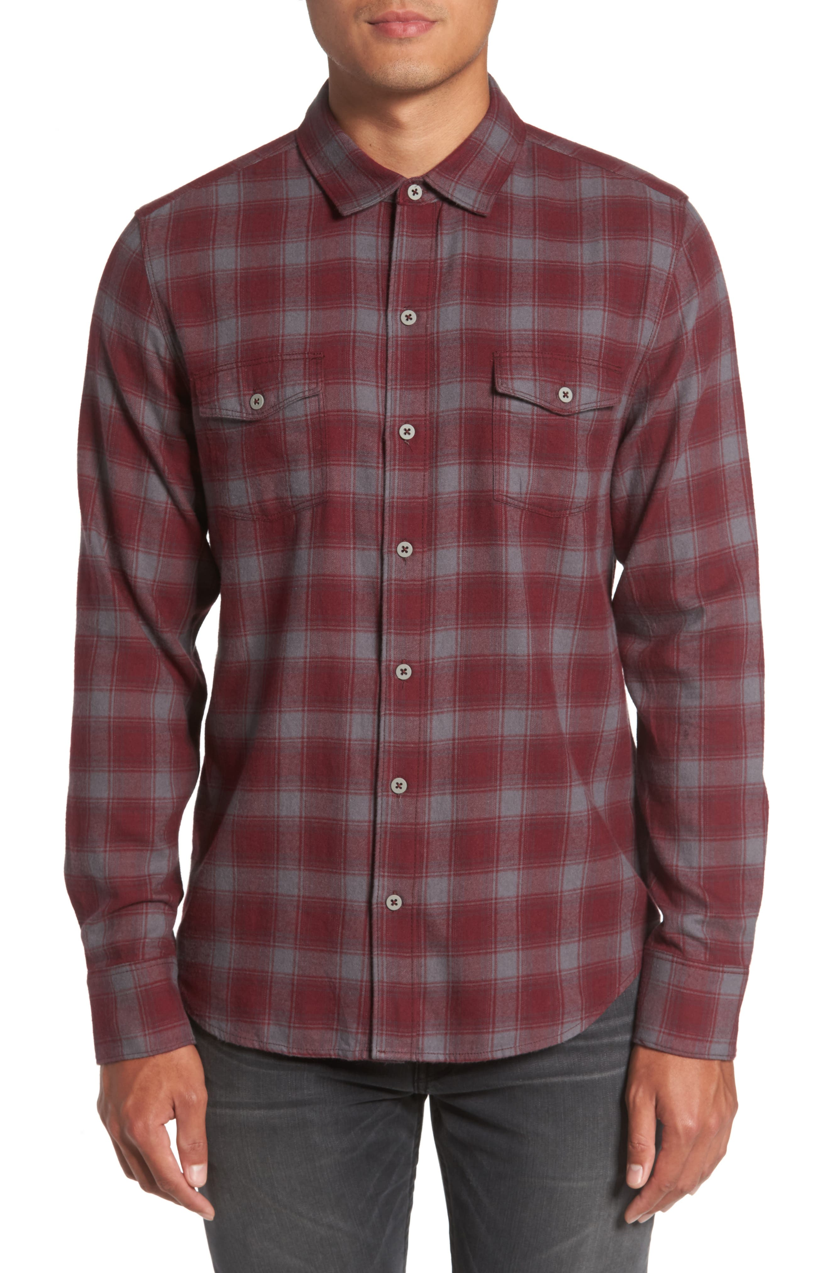 PAIGE Everett Plaid Sport Shirt