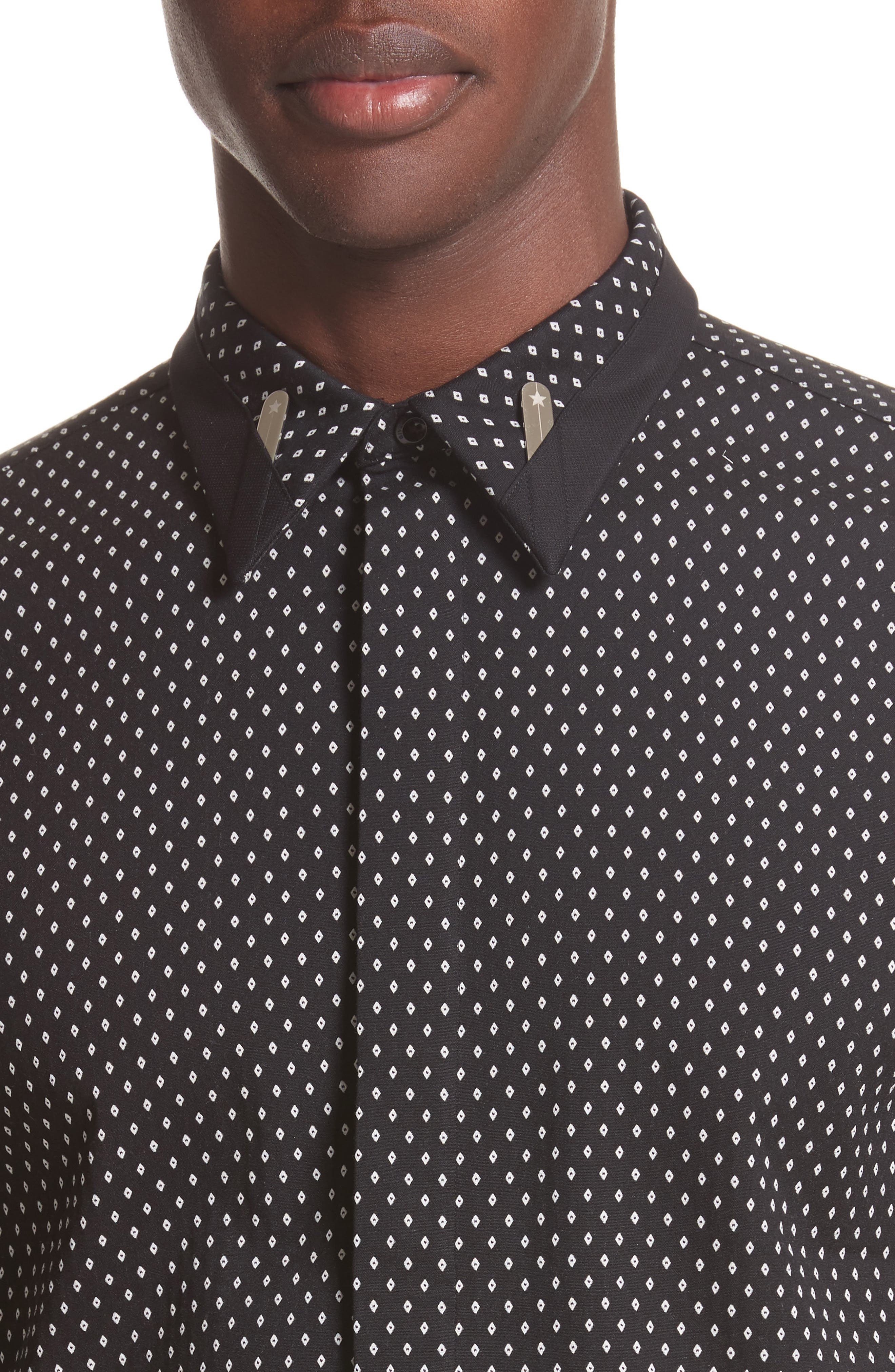 Alternate Image 4  - Givenchy Jacquard Collar Stay Shirt