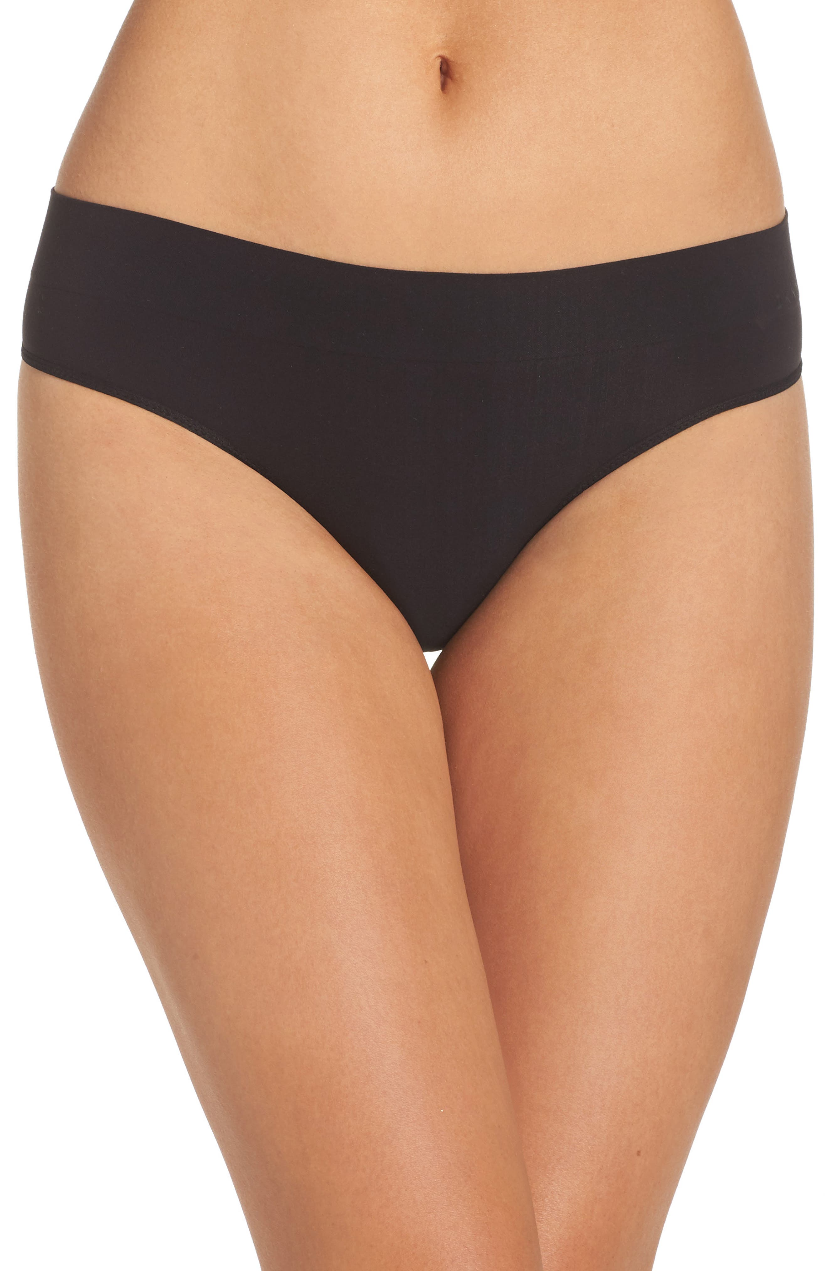 LiteWear Seamless Thong,                         Main,                         color, Black