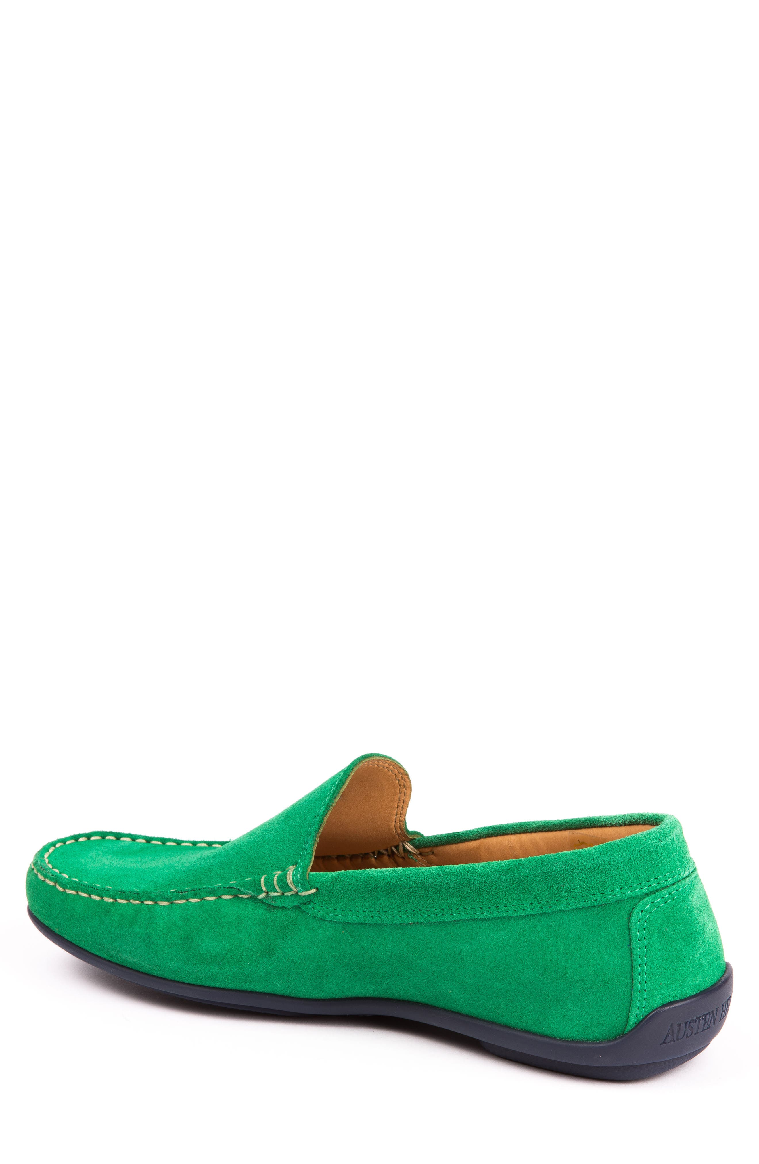 Fairways Driving Shoe,                             Alternate thumbnail 2, color,                             Green Suede