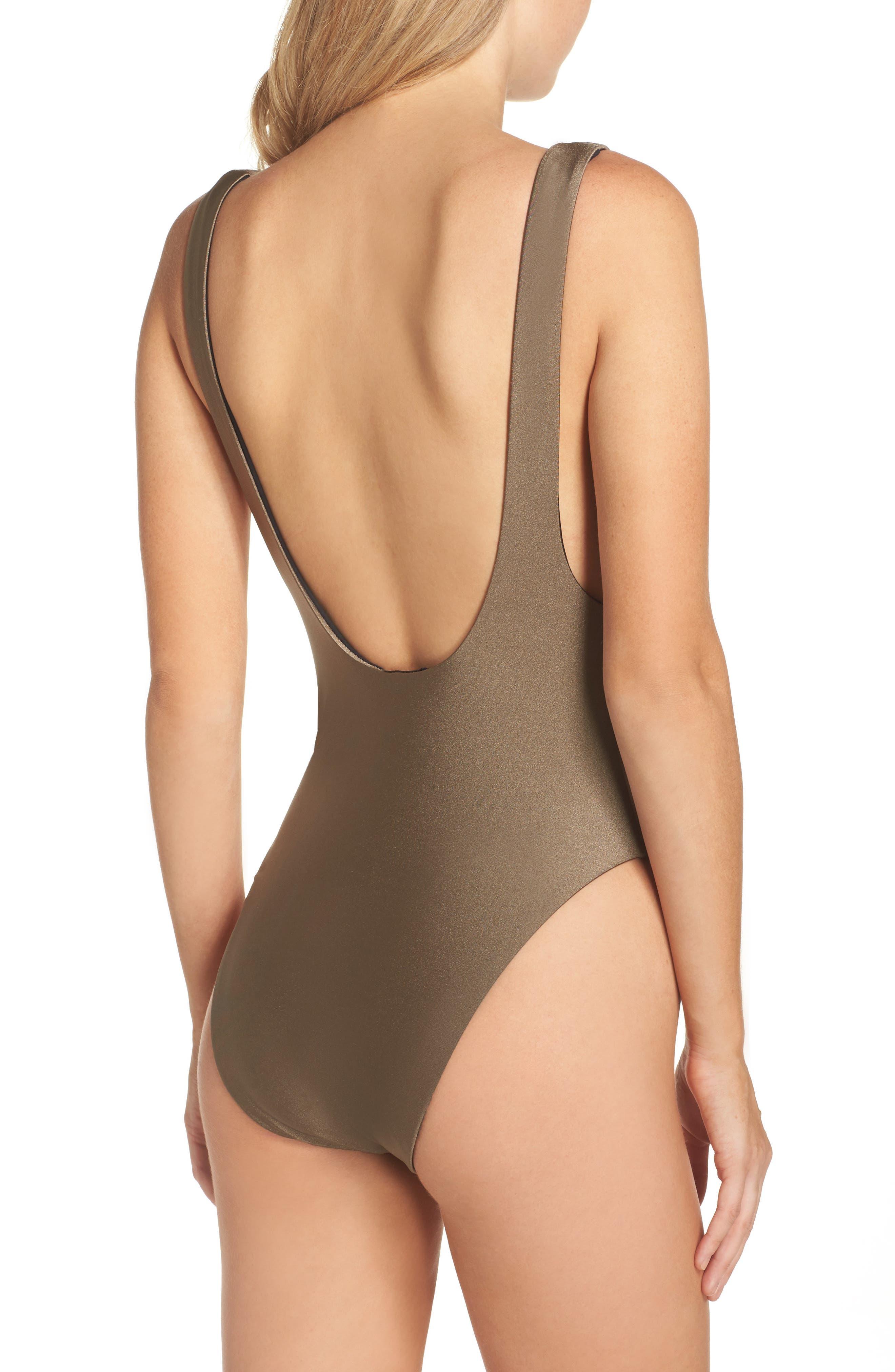 Alternate Image 2  - Becca Reversible One-Piece Swimsuit