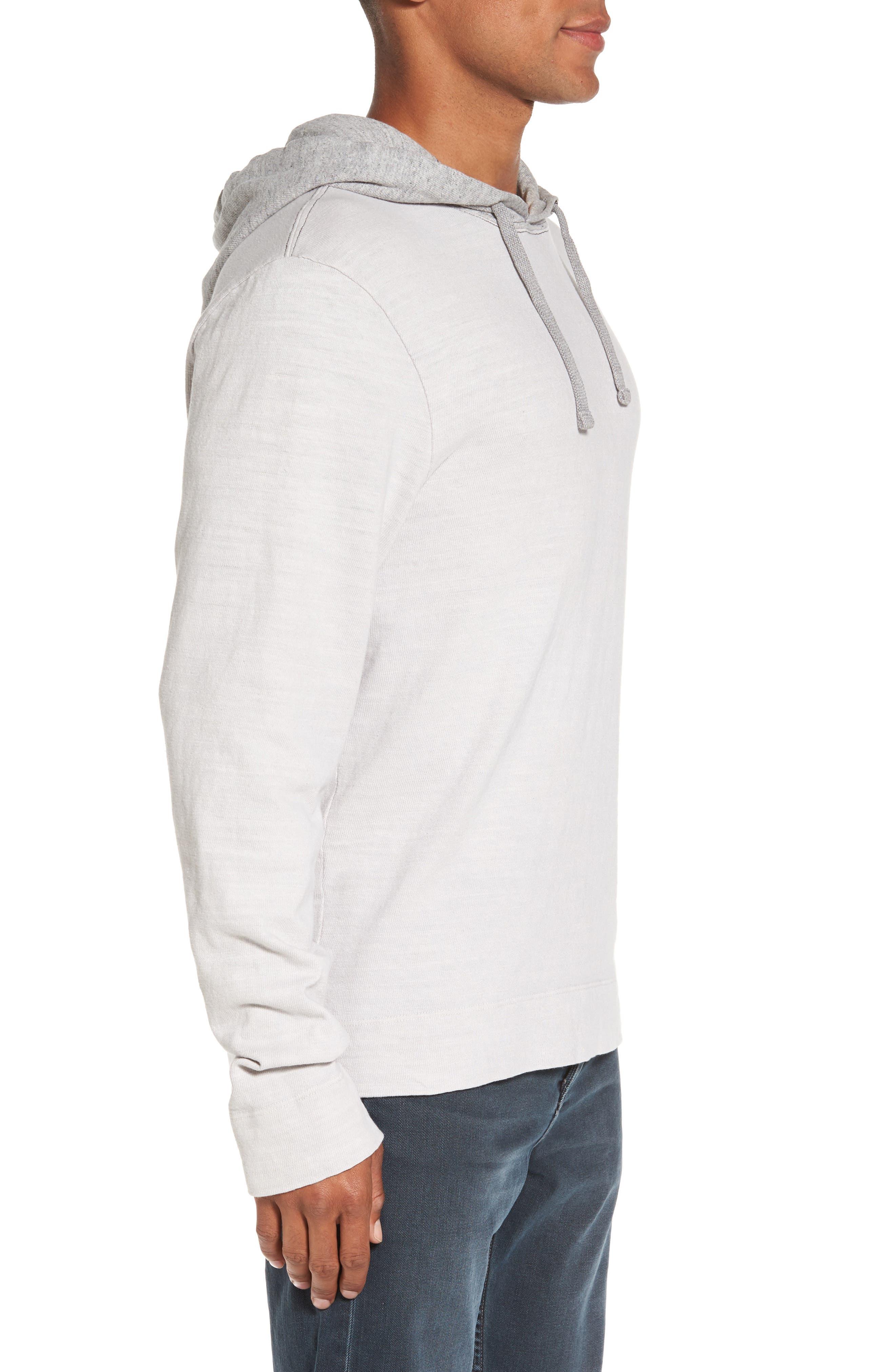 Standard Fit Pullover Hoodie,                             Alternate thumbnail 3, color,                             Concrete Dust Pigment