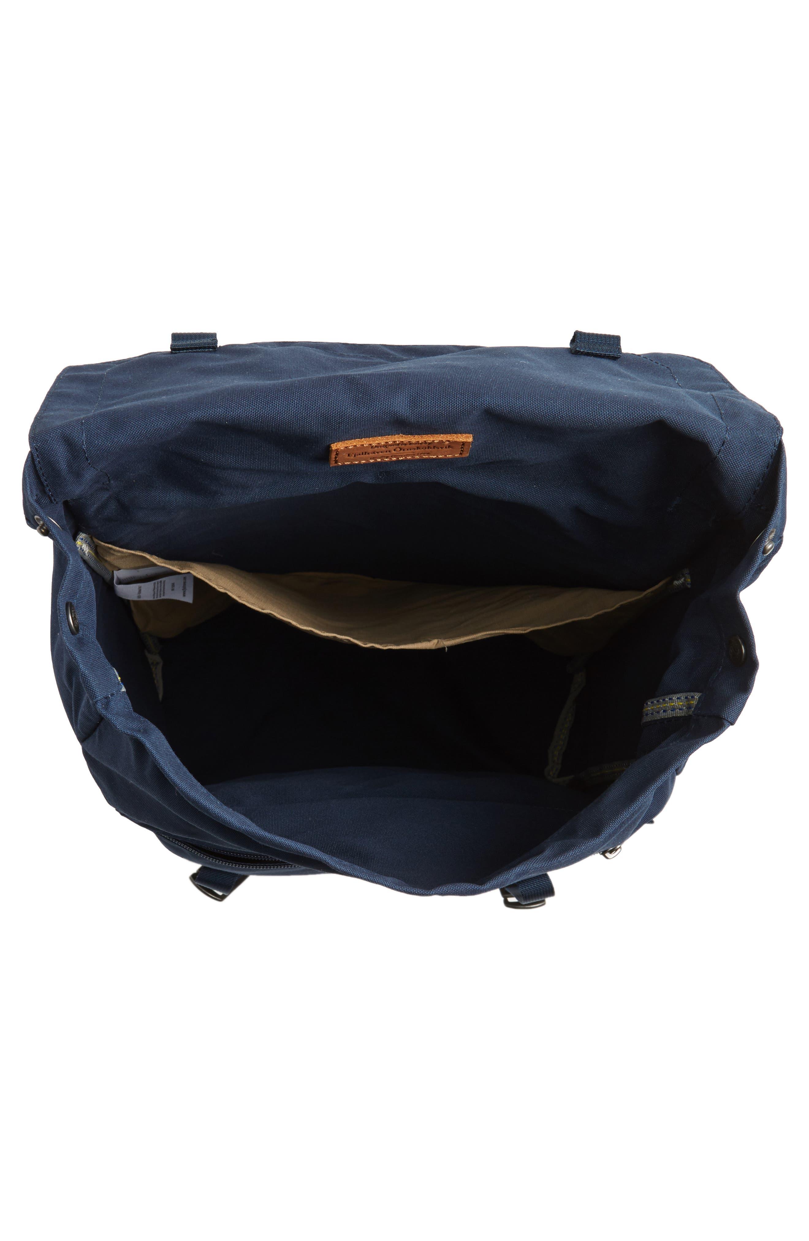 Foldsack No.1 Water Resistant Backpack,                             Alternate thumbnail 4, color,                             Navy