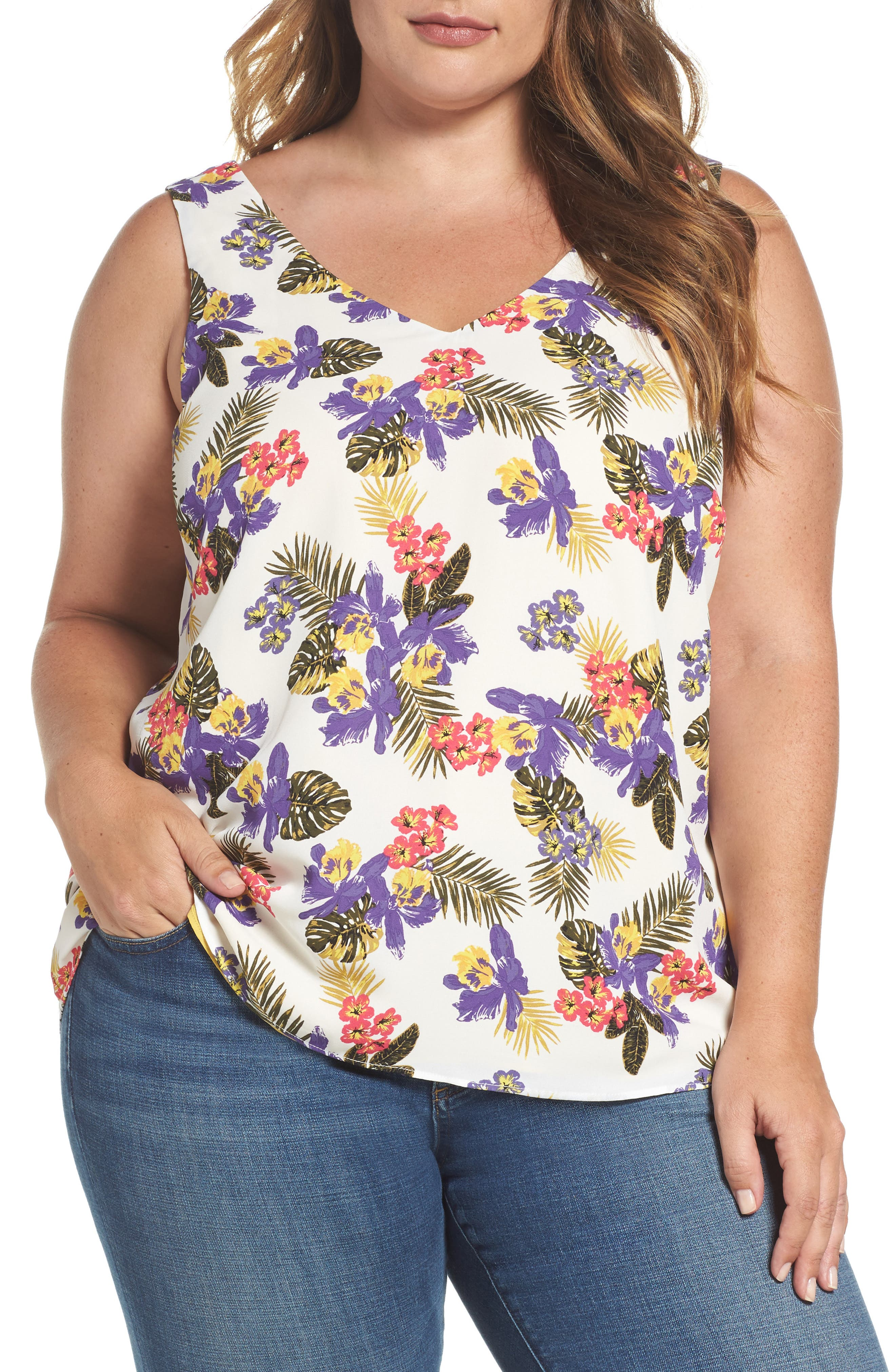 MICHEL STUDIO Reversible Tank (Plus Size)