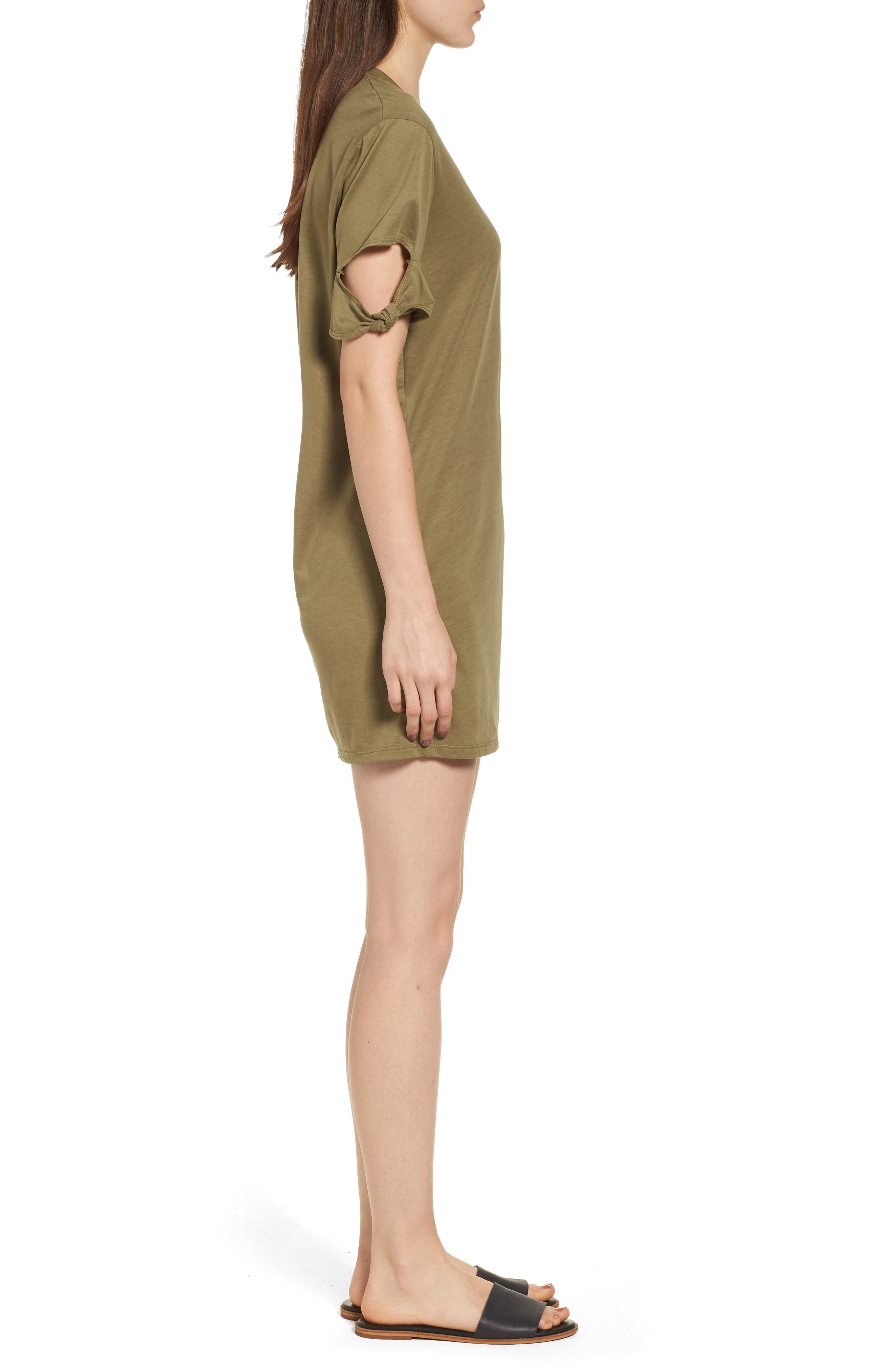 Alternate Image 3  - PST by Project Social T Knotted Sleeve T-Shirt Dress