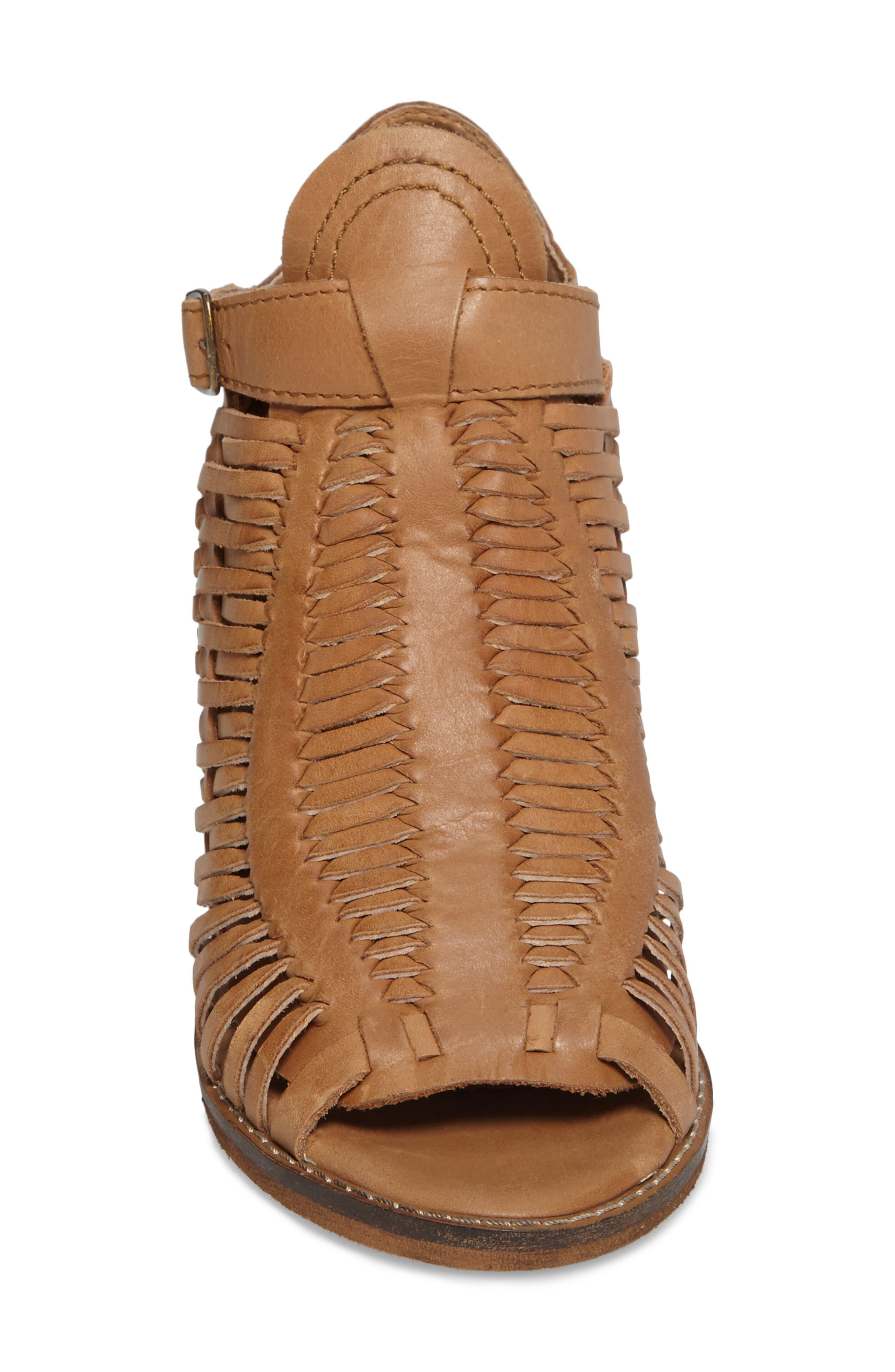 Killion Open Toe Bootie,                             Alternate thumbnail 4, color,                             Tan Leather