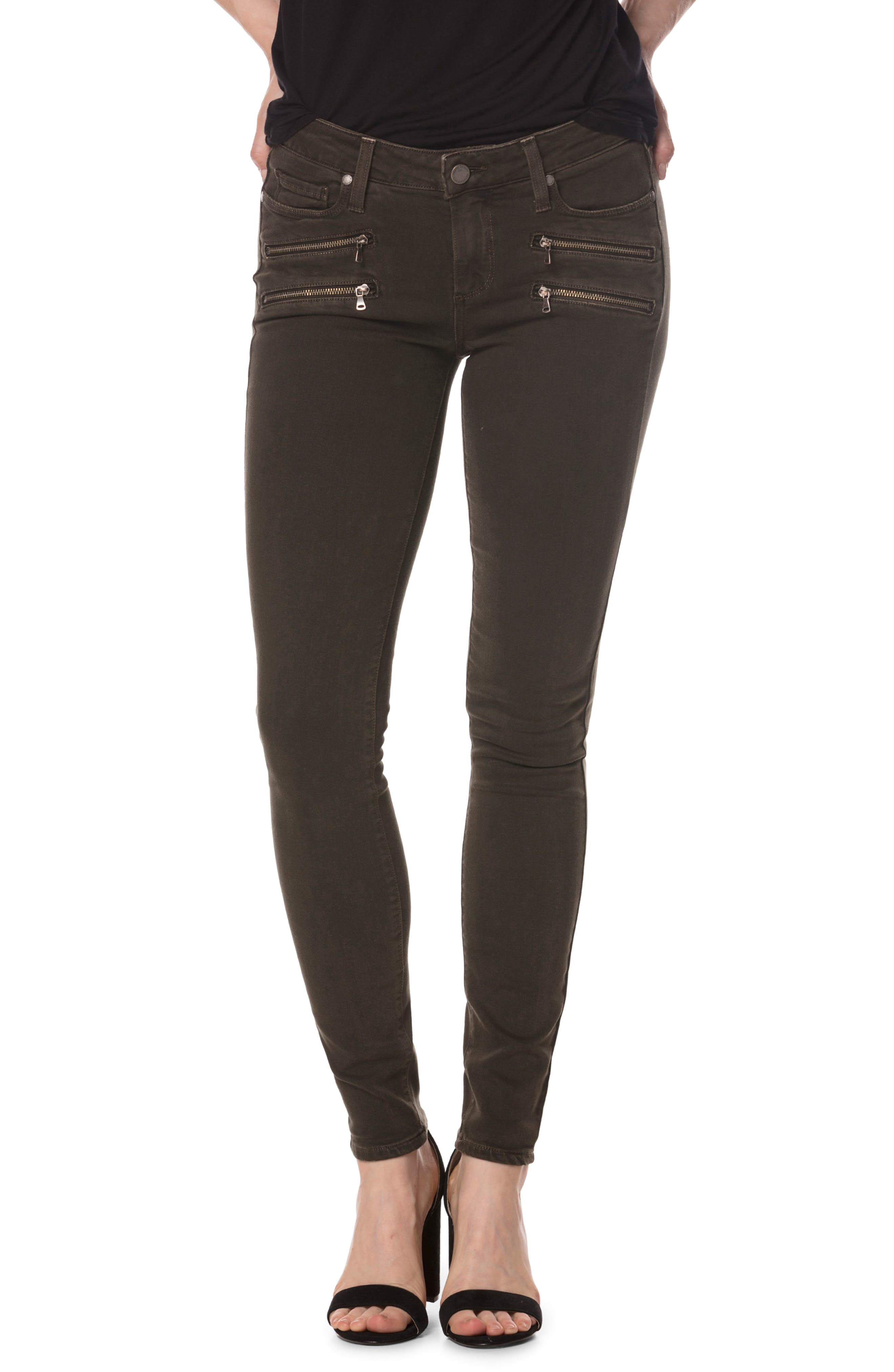 Alternate Image 1 Selected - PAIGE Transcend - Edgemont Ankle Ultra Skinny Jeans