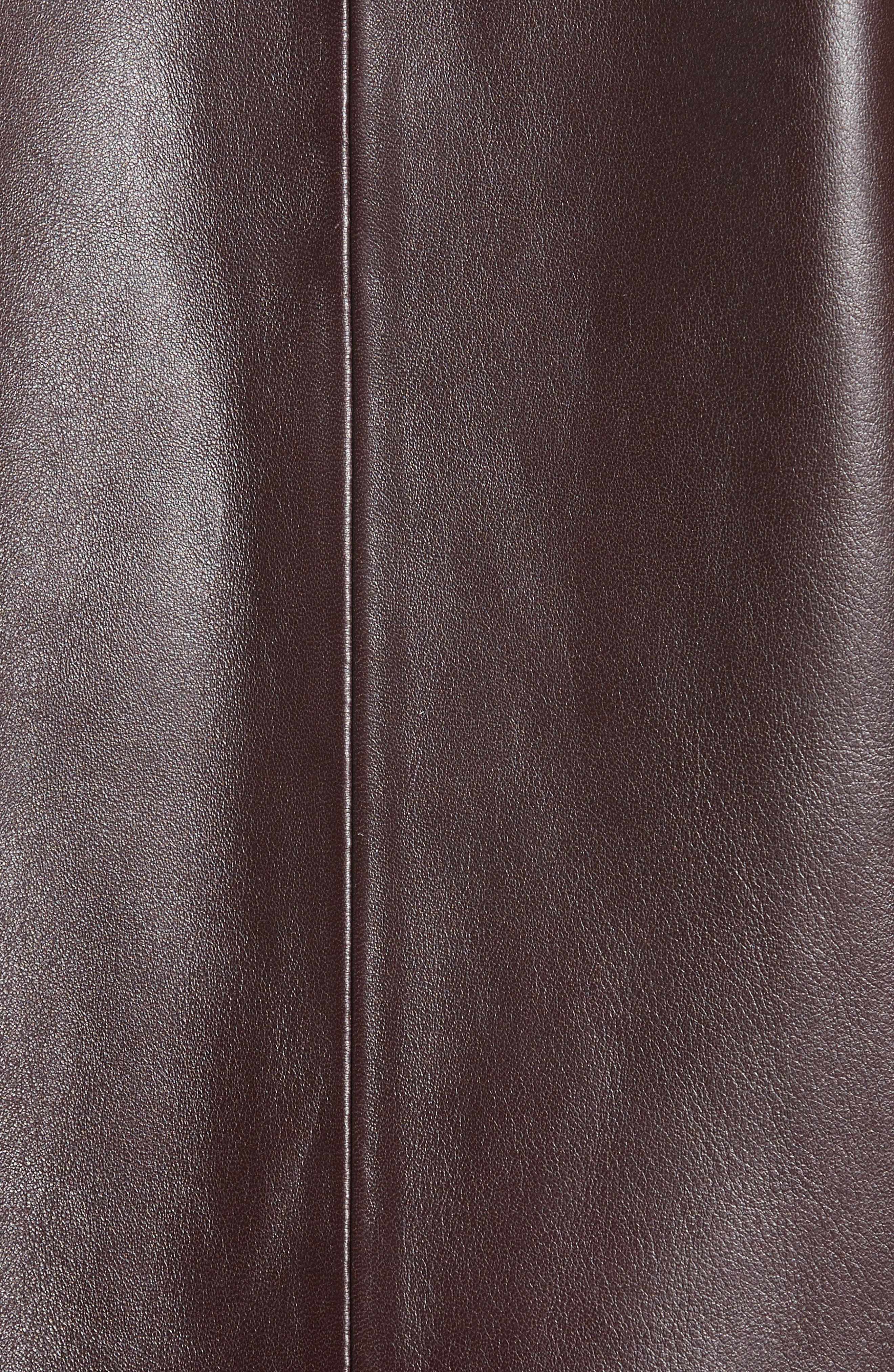 Acne Nate Leather Jacket,                             Alternate thumbnail 5, color,                             Oxblood Red