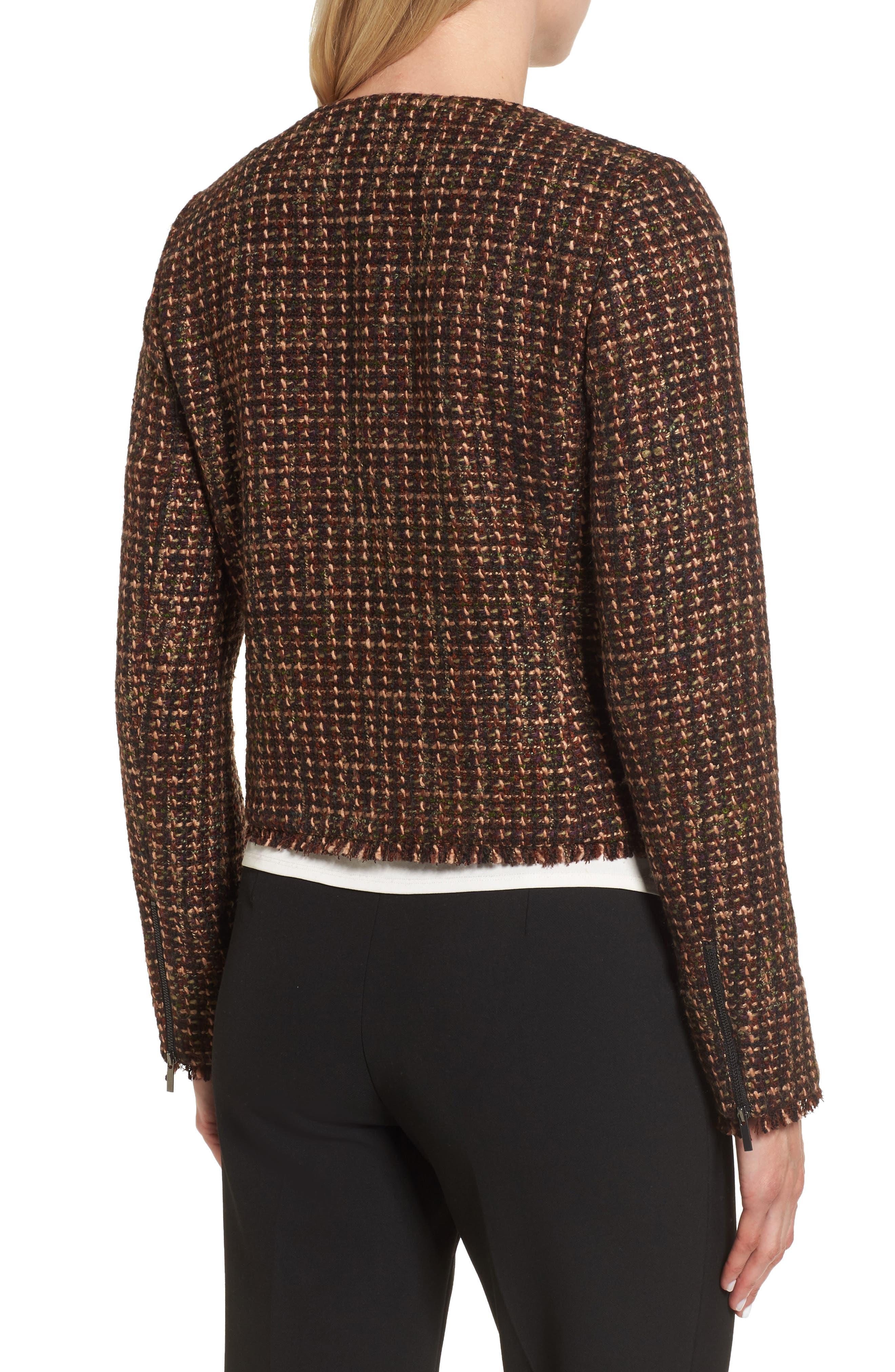 Alternate Image 2  - Emerson Rose Crop Tweed Jacket