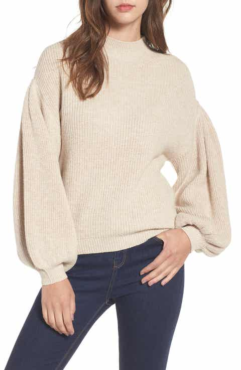 Women's Beige Cotton Blend Sweaters | Nordstrom