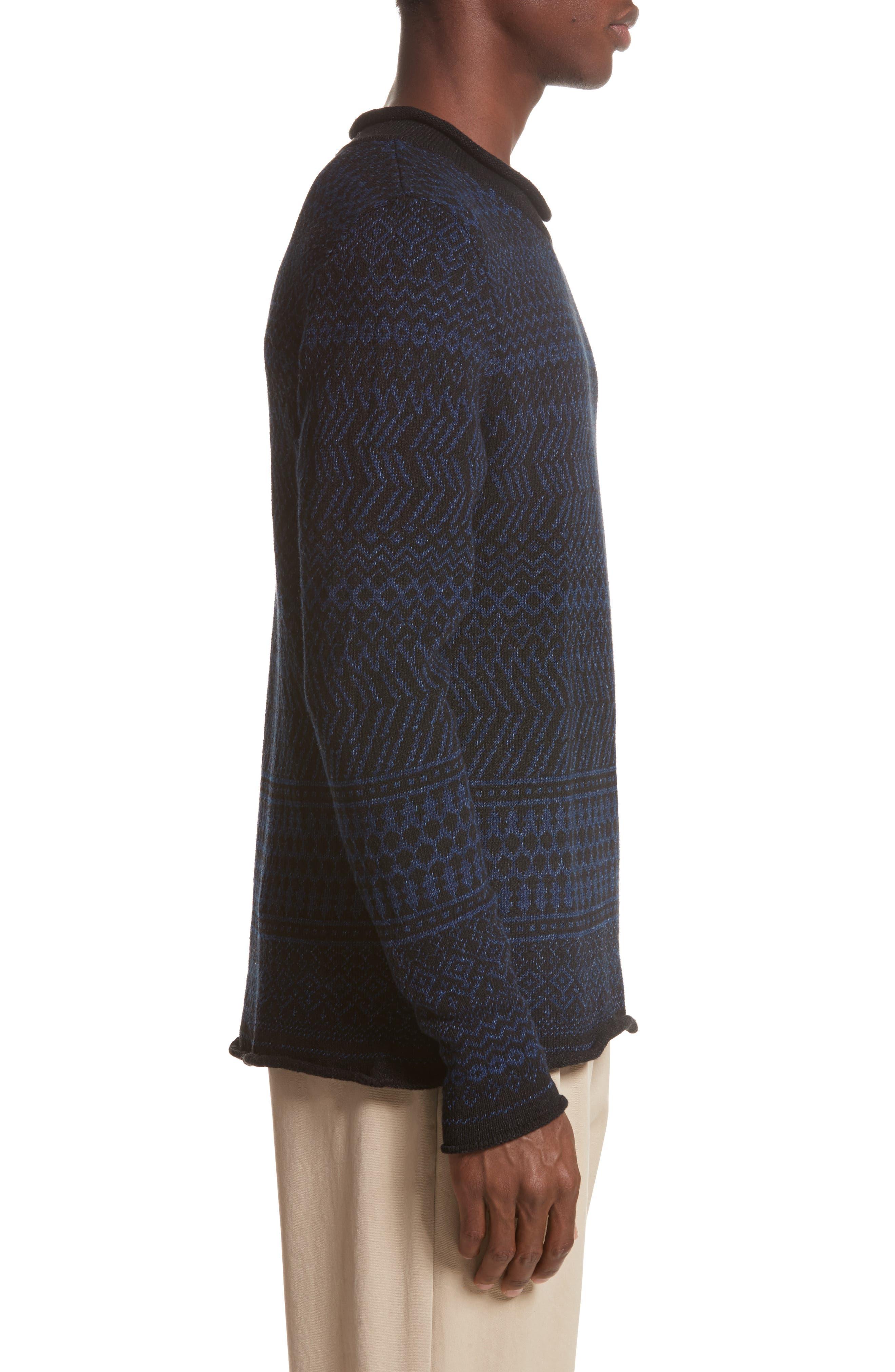Alternate Image 3  - Eidos Napoli Fair Isle Roll Neck Sweater