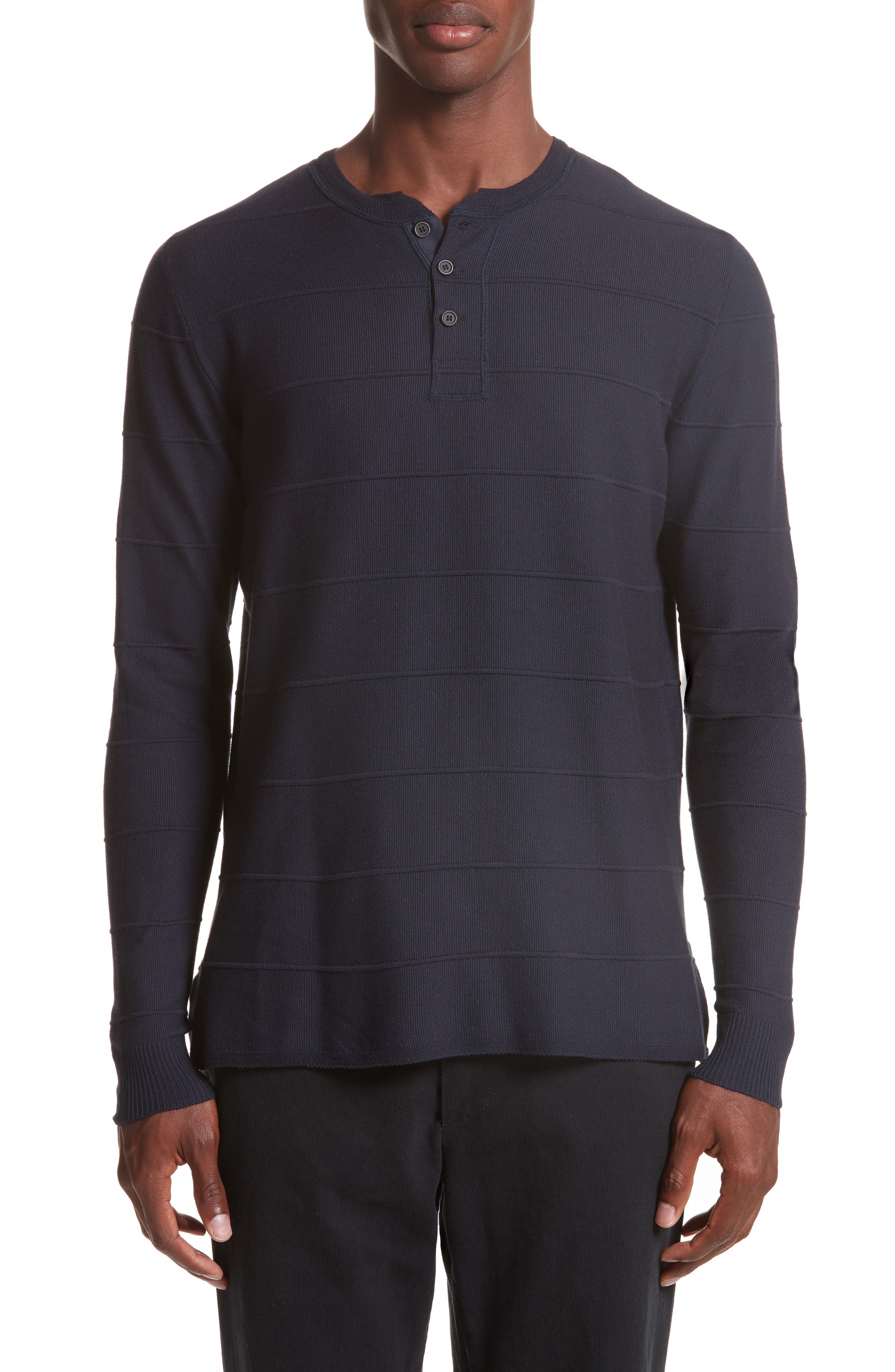 Eidos Napoli Basketweave Henley Sweater