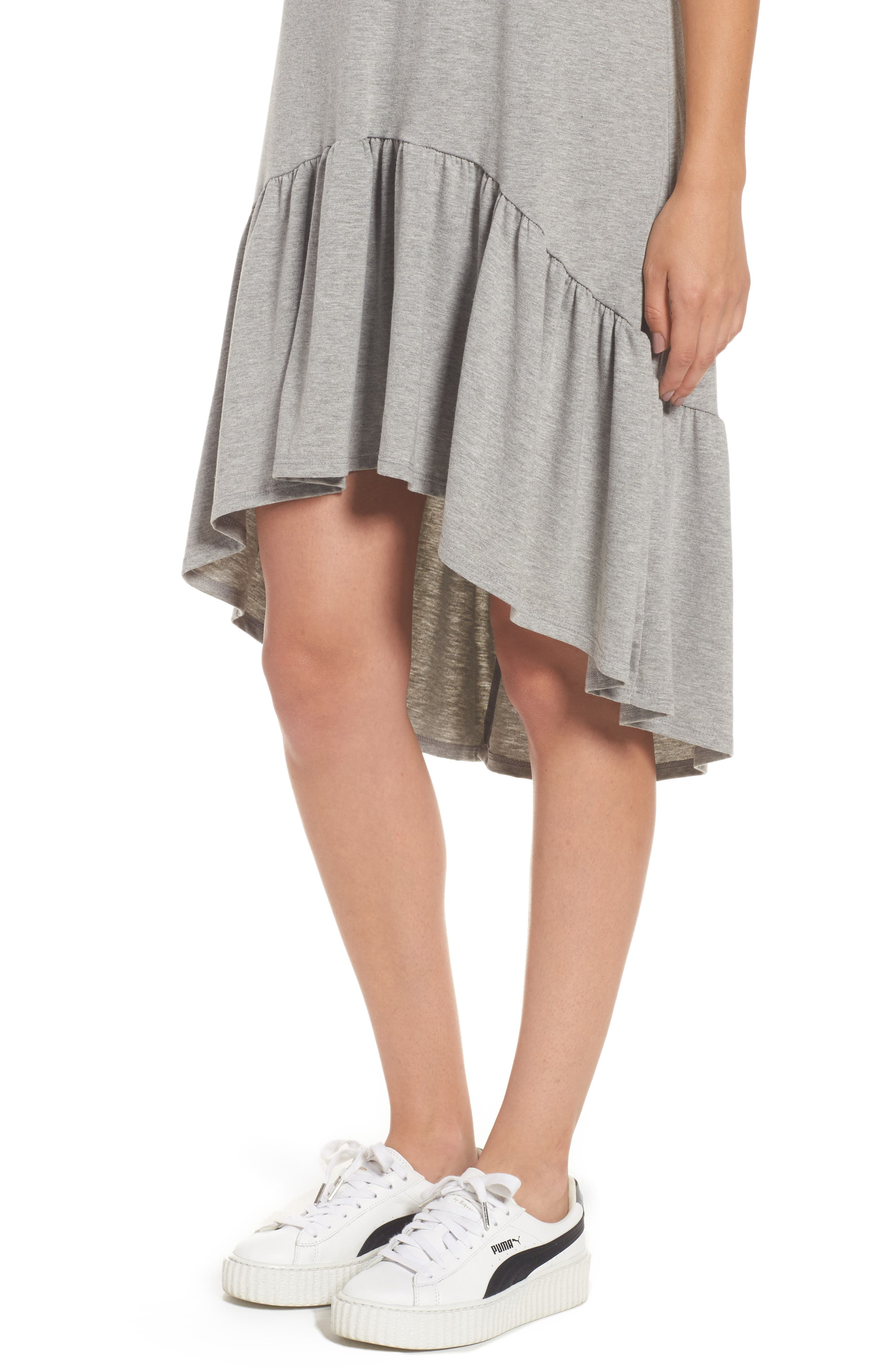 Alternate Image 4  - Cotton Emporium Ruffle Hem Knit T-Shirt Dress