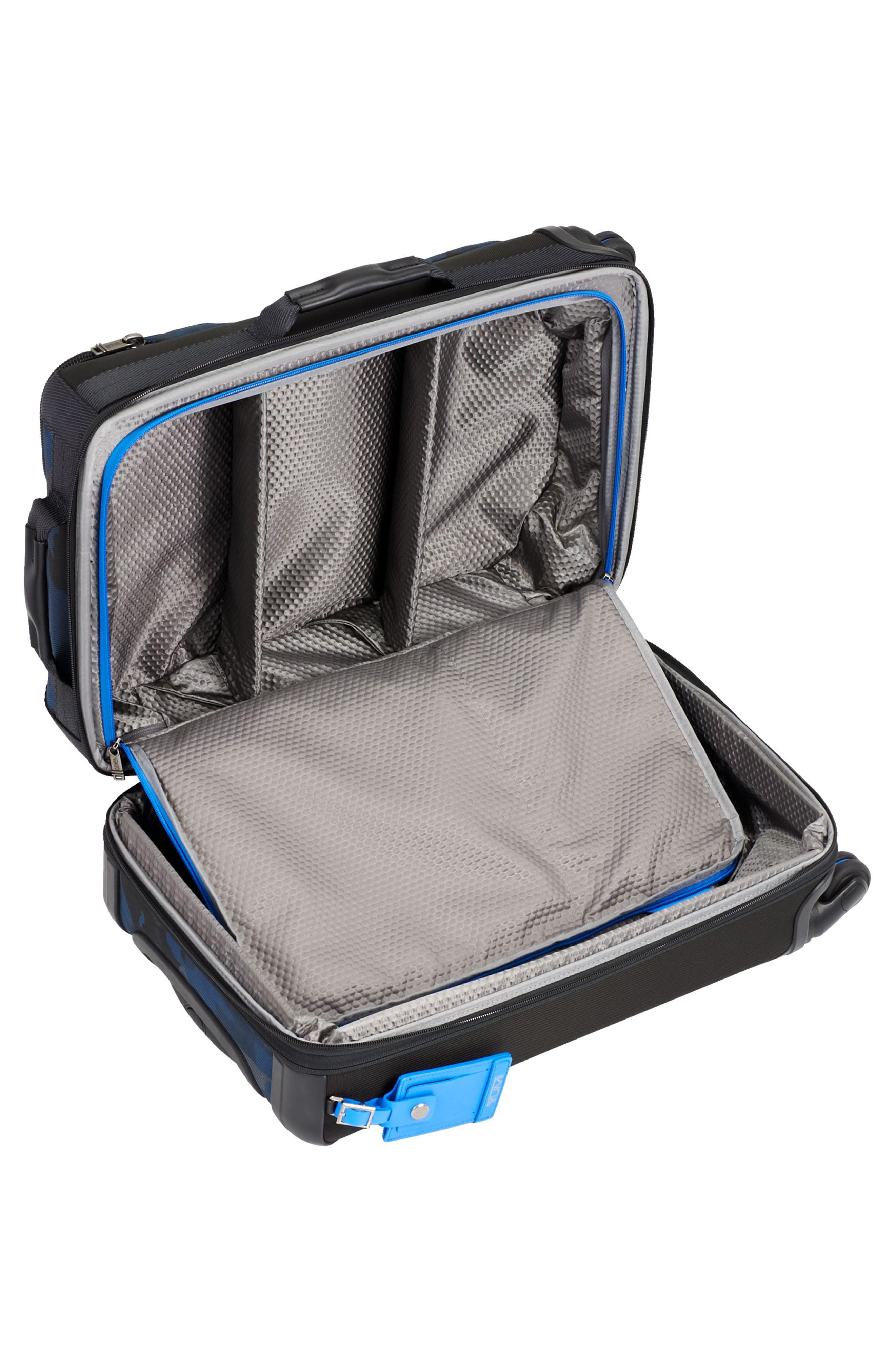 Alpha Bravo Kirtland 22 Inch Expandable Continental Wheeled Carry-On,                             Alternate thumbnail 2, color,                             Blue Camo