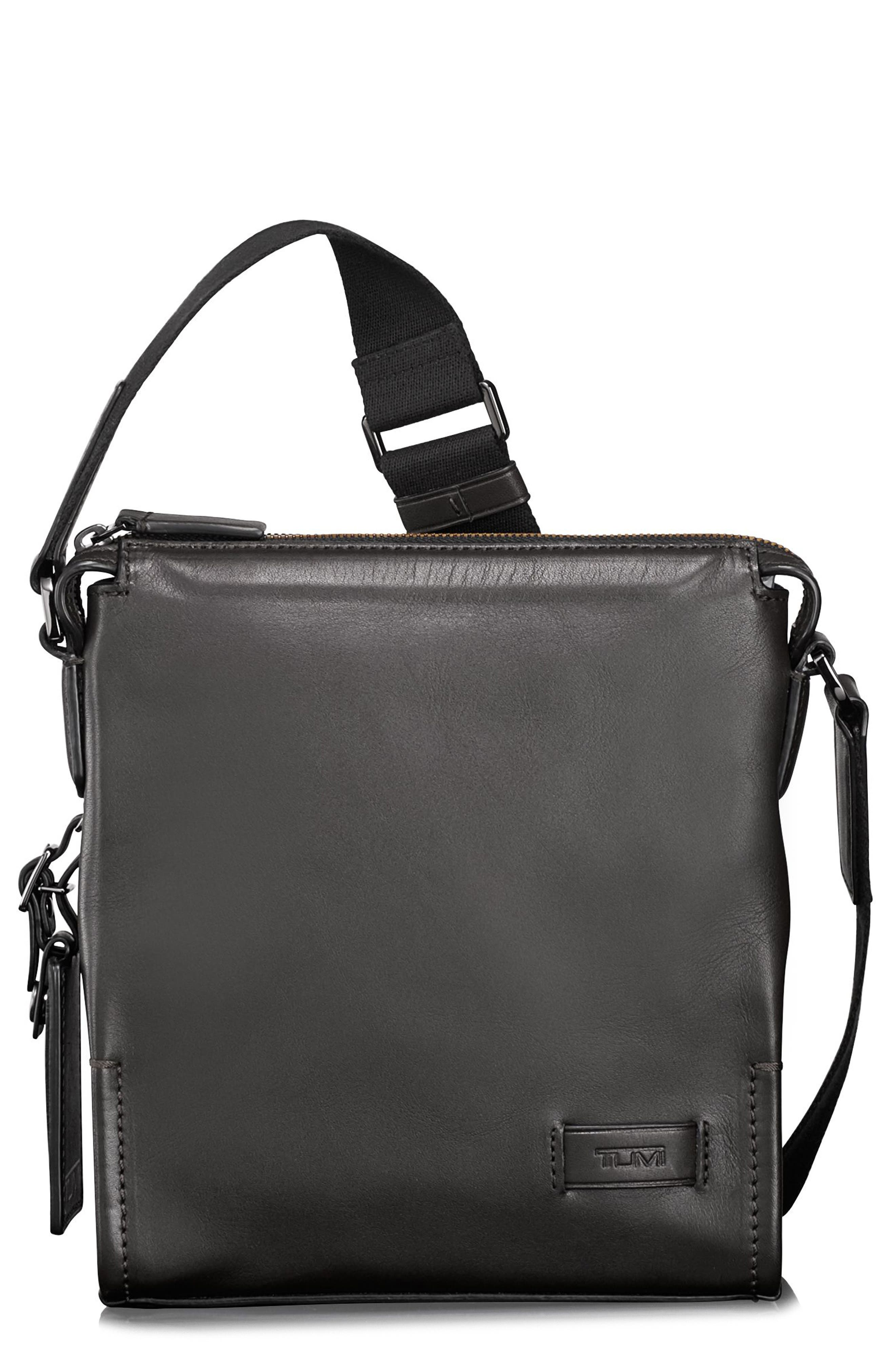 TUMI Harrison Scott Leather Messenger Bag