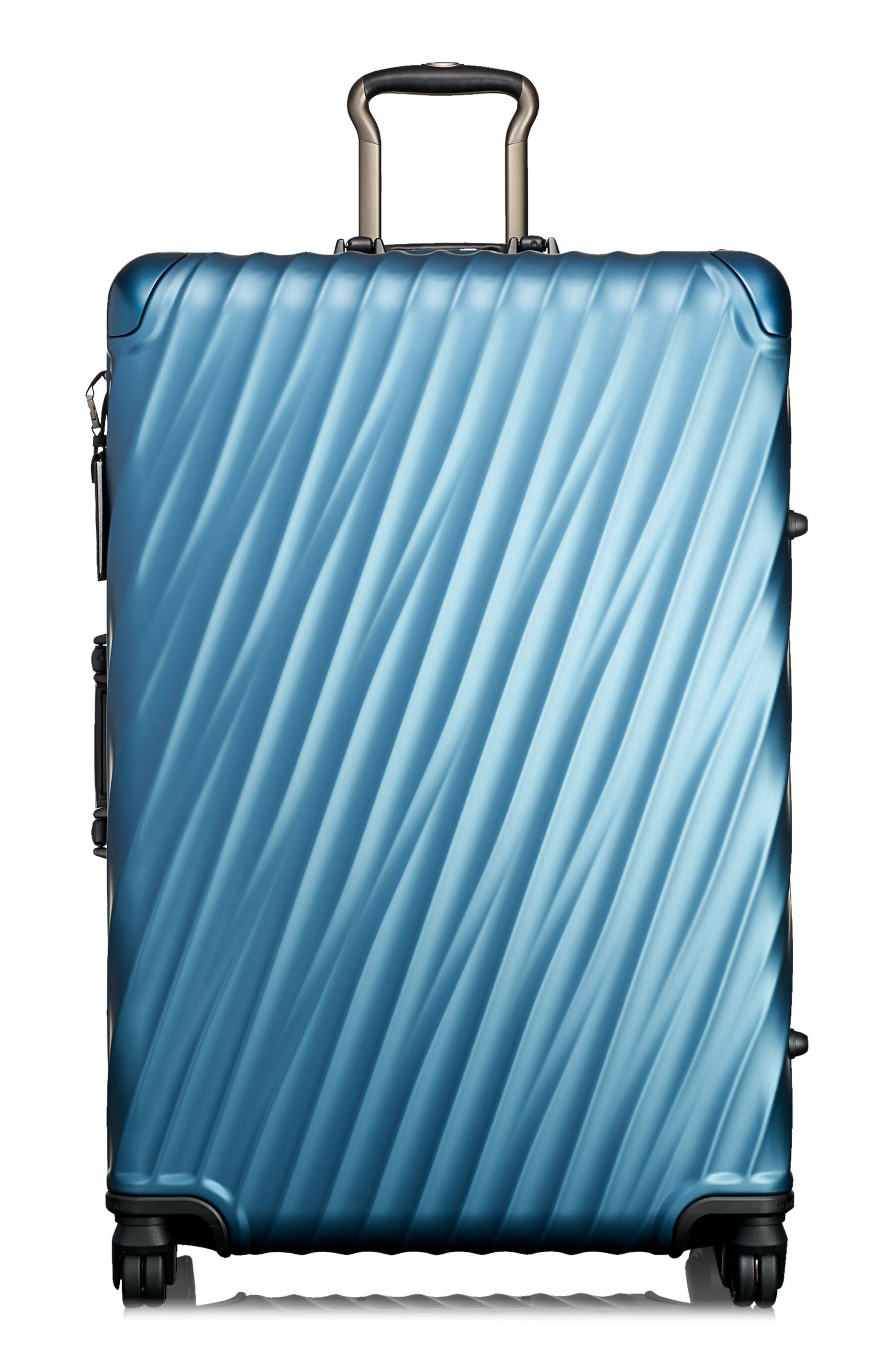19 Degree Extended Trip Wheeled Aluminum Packing Case,                         Main,                         color, Blue