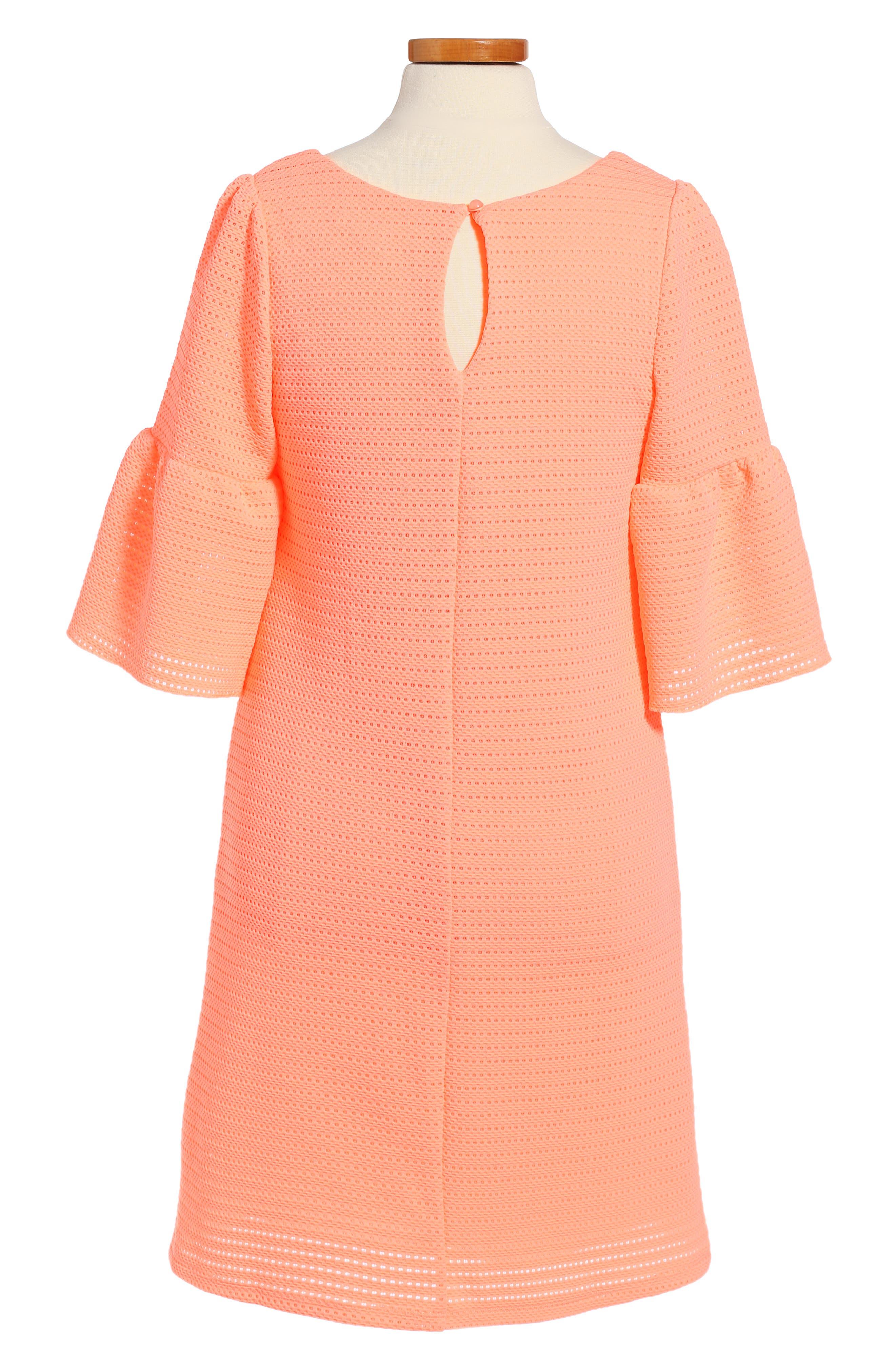 Alternate Image 2  - Love, Nickie Lew Bell Sleeve Dress (Big Girls)