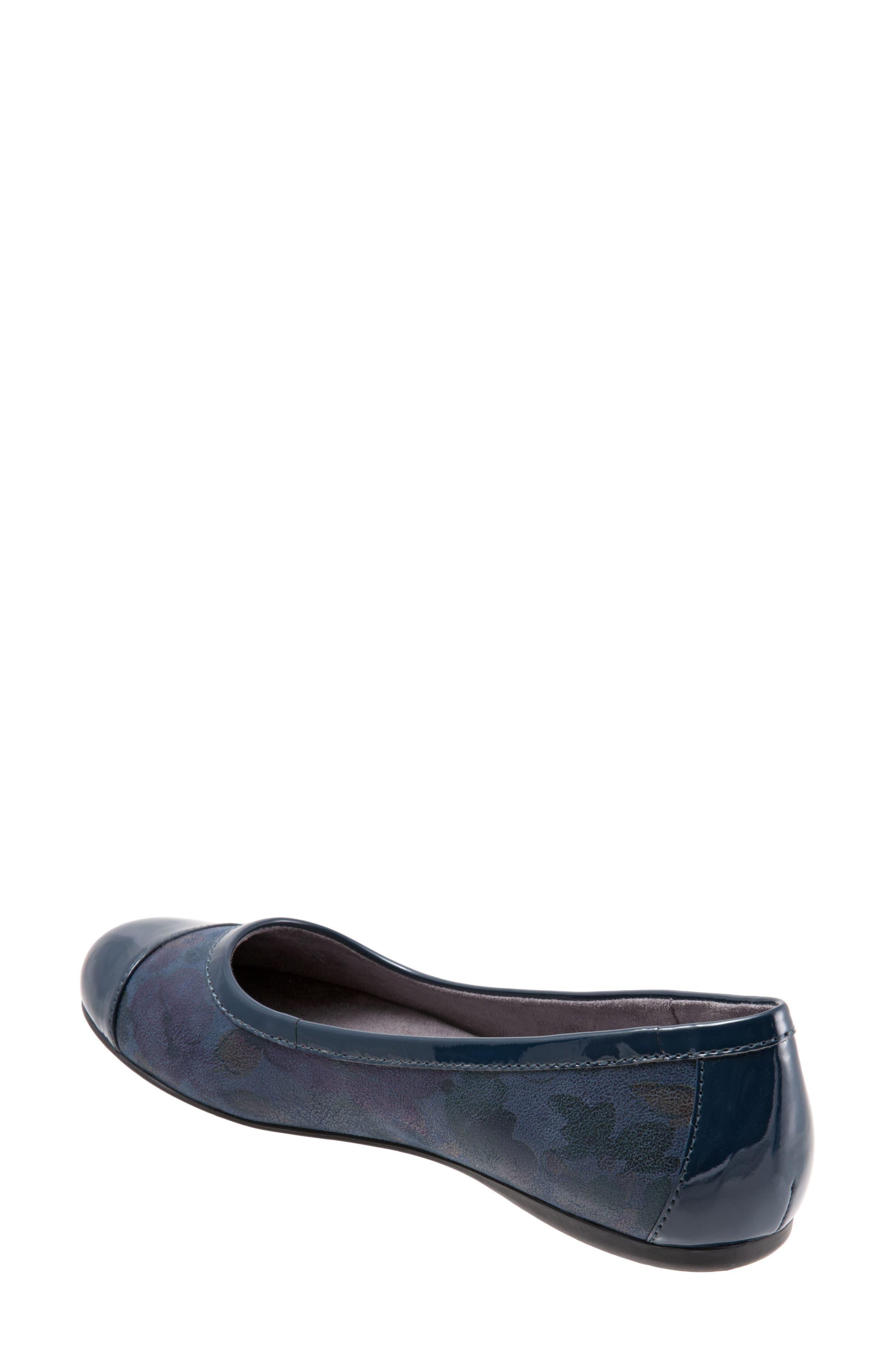 'Napa' Flat,                             Alternate thumbnail 2, color,                             Navy Leather