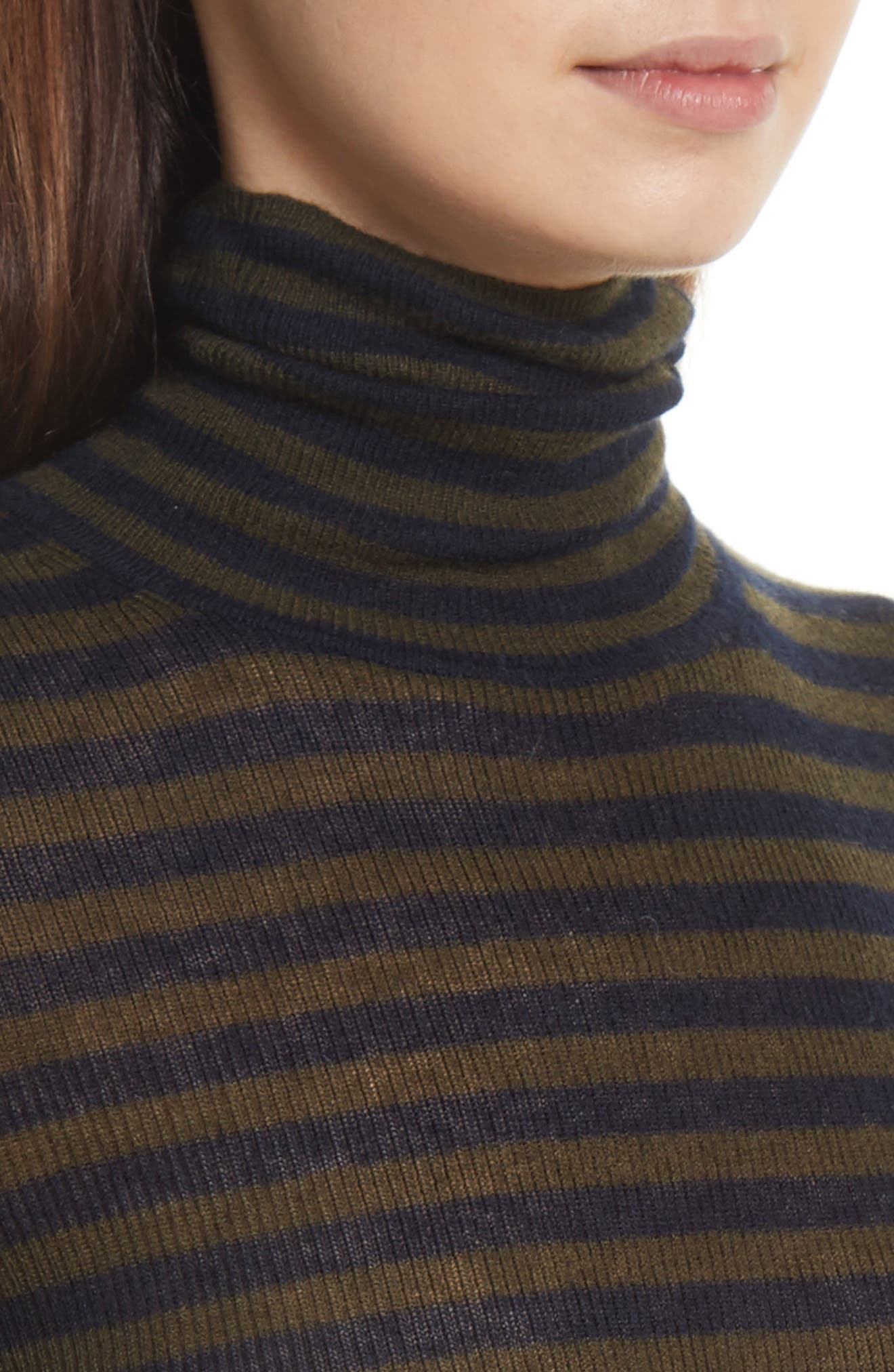 Alternate Image 5  - Vince Stripe Ribbed Turtleneck