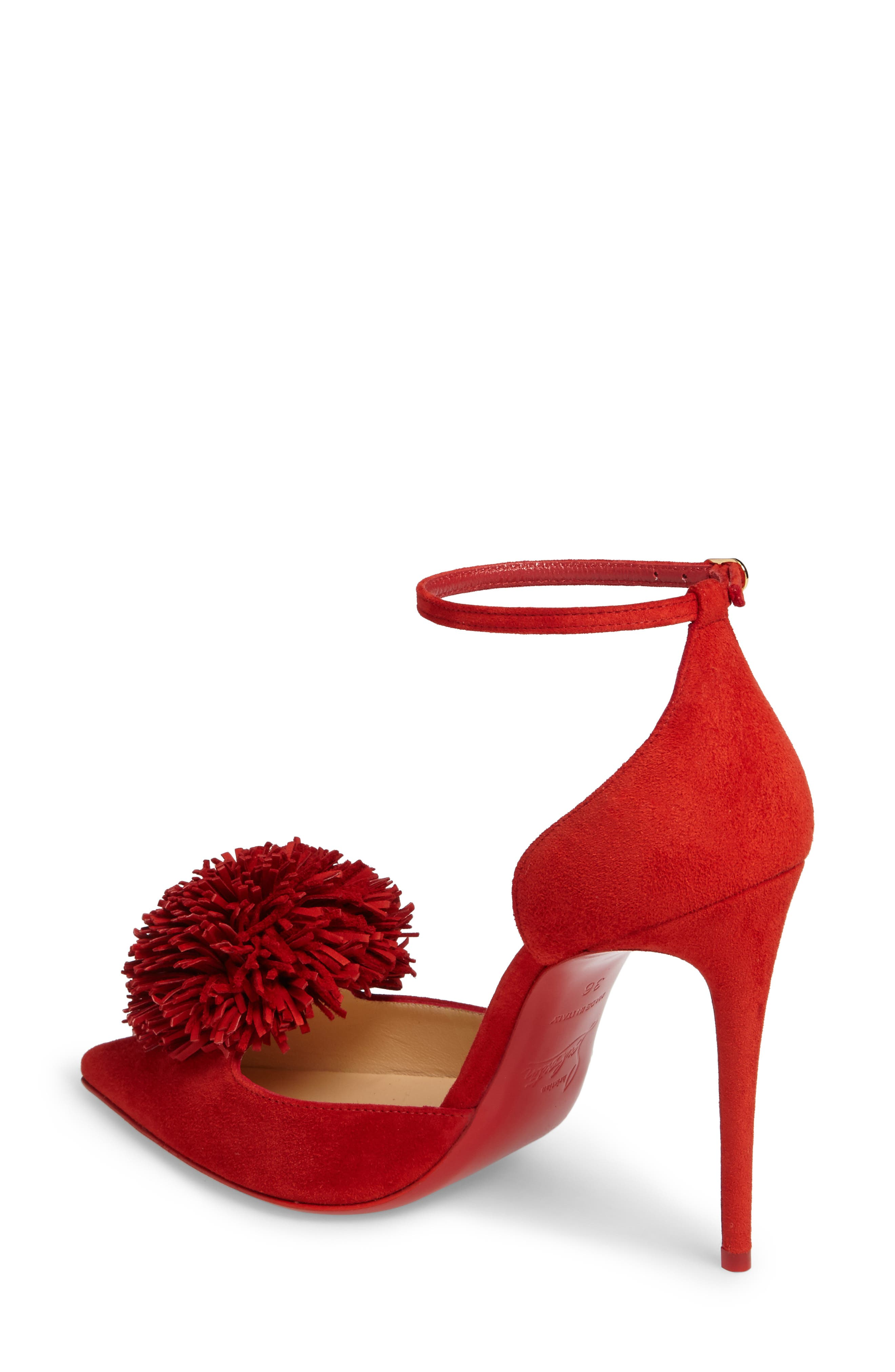 Alternate Image 2  - Christian Louboutin Tsarou Pom Ankle Strap Pump (Women)